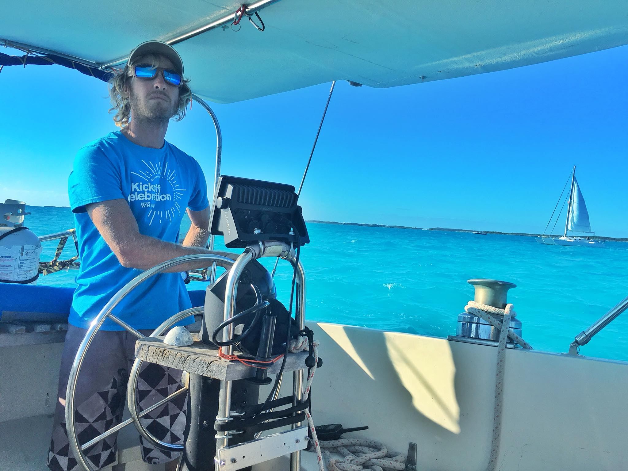 Sailing Life Day 26: Off the hook and Overnight Sail to Georgetown with S/V Moonshadow & S/V Joshua (Trimaran Tim)
