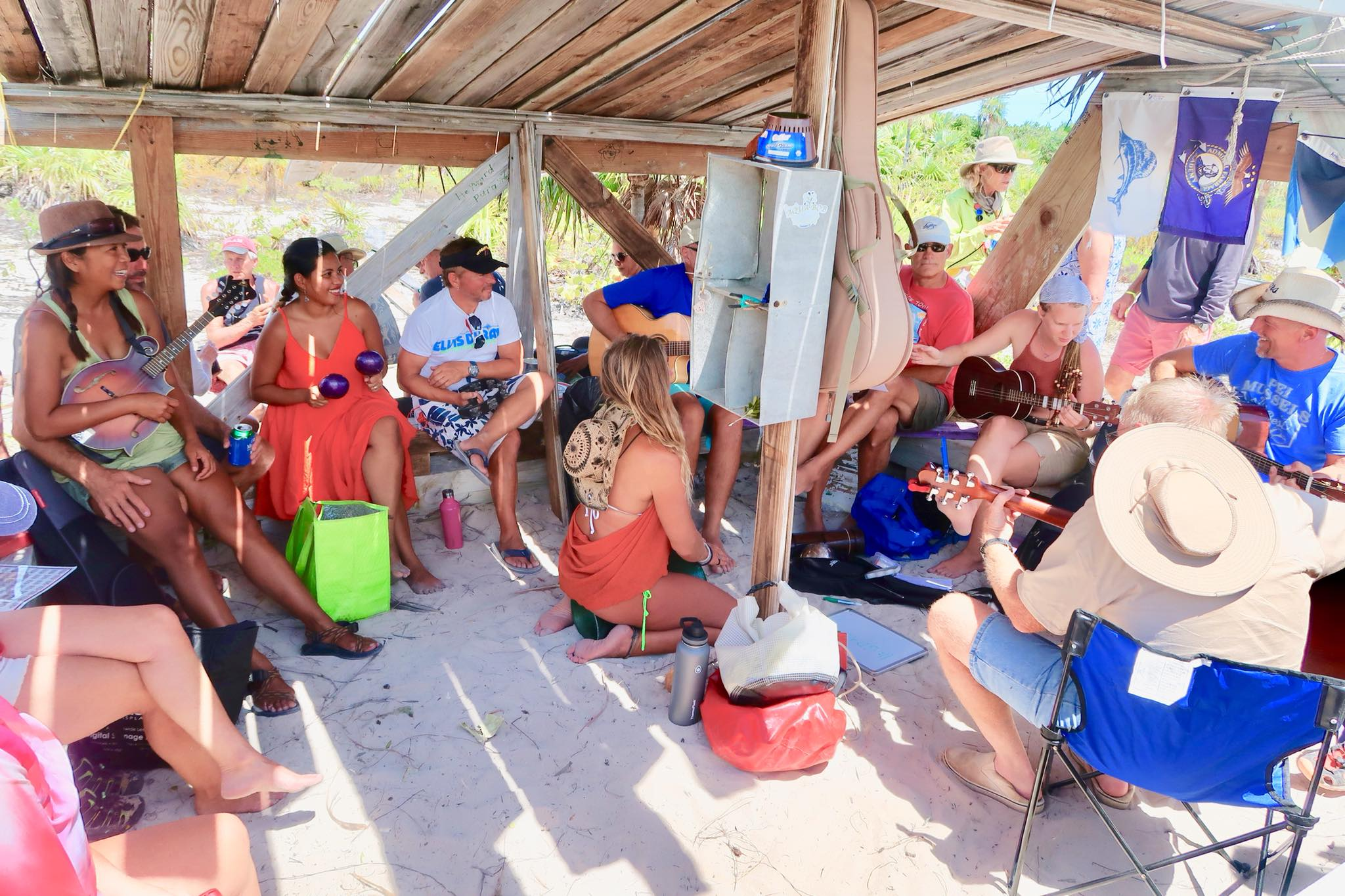 Sailing Life Day 36: Easter Sunday Service here in Beach Church, Stocking Island, George Town