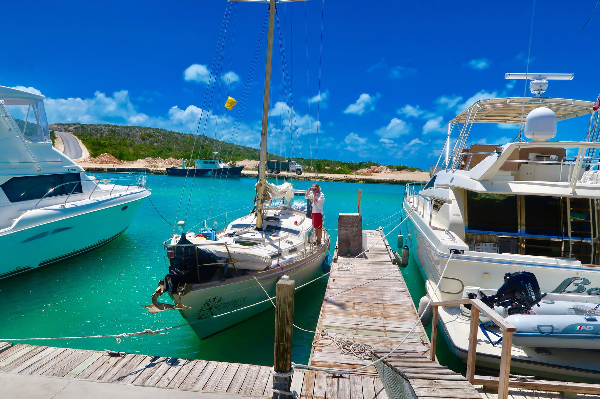 Sailing Life Day 44: Our Day in Provo, Turks & Caicos : Cleared In Customs & Immigration, New Passport Stamp for Captain Ahab, Steak for Dinner and Issues Fixed!
