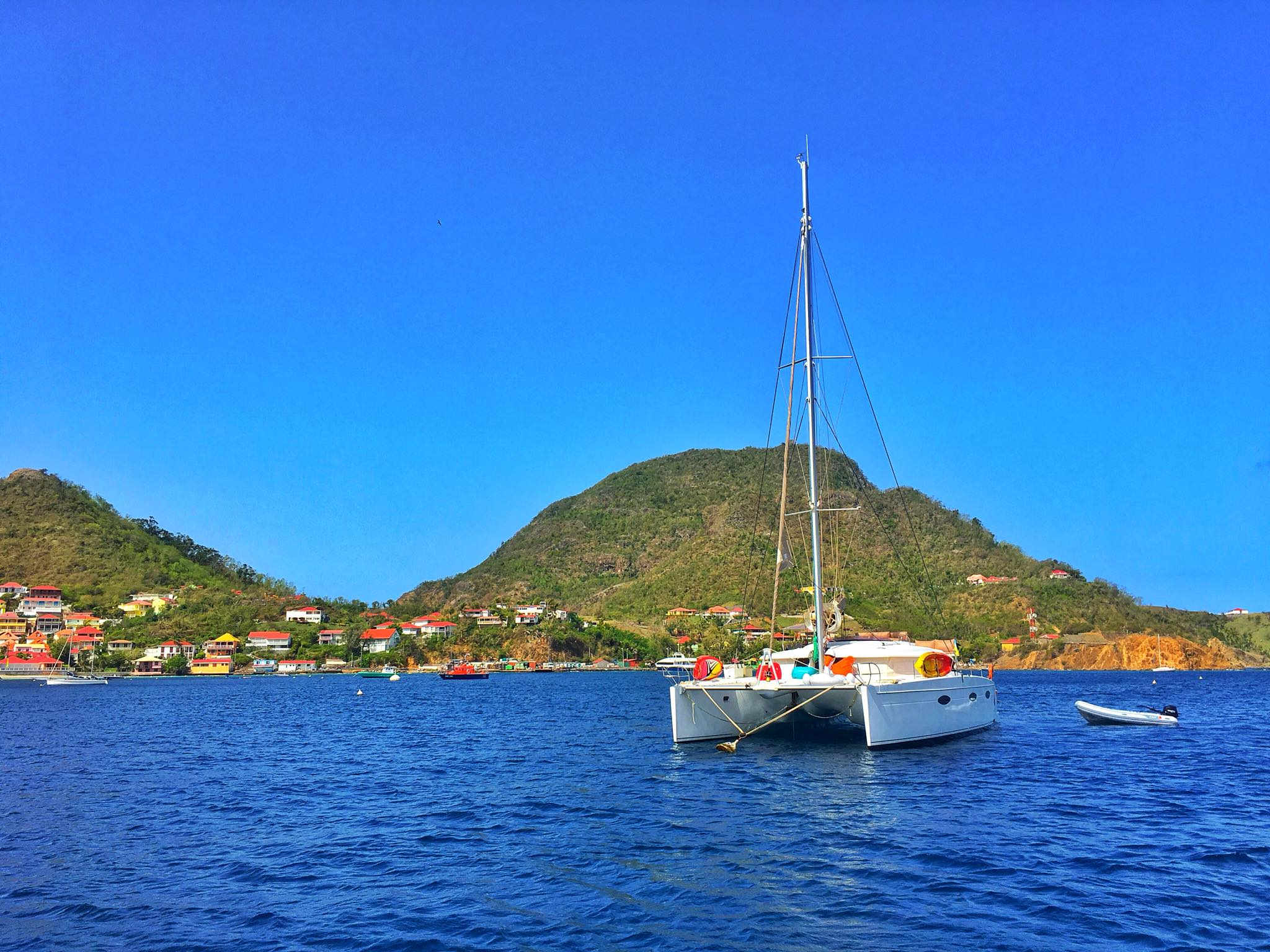 Kach Solo Sailing Adventures: Crossing from Dominica to the French territory of Iles des Saintes (The Saintes)