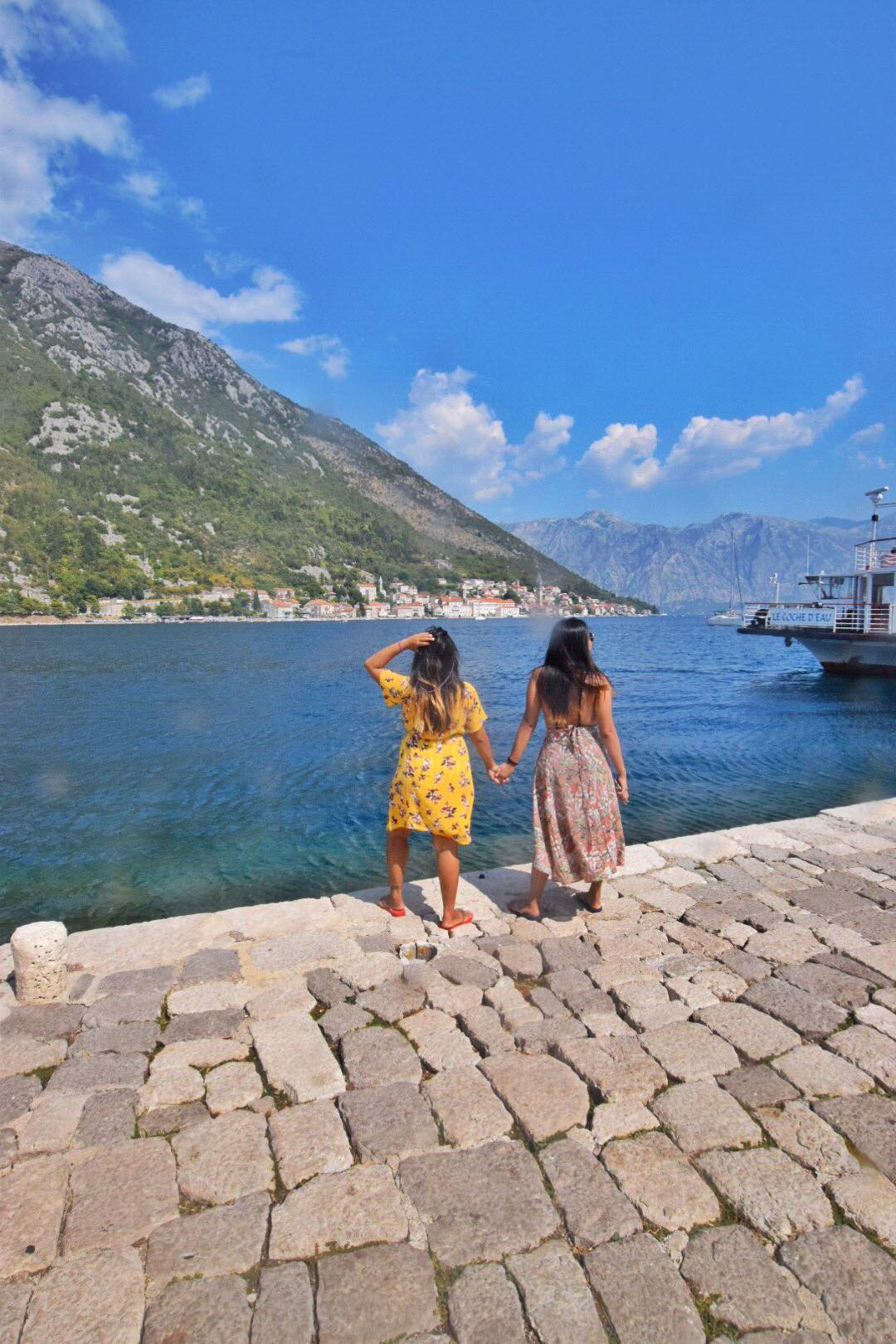 Kach Solo Travels Day 7 to 10: Twinning with my younger sister, Krista, here in HERCEG NOVI, Montenegro!
