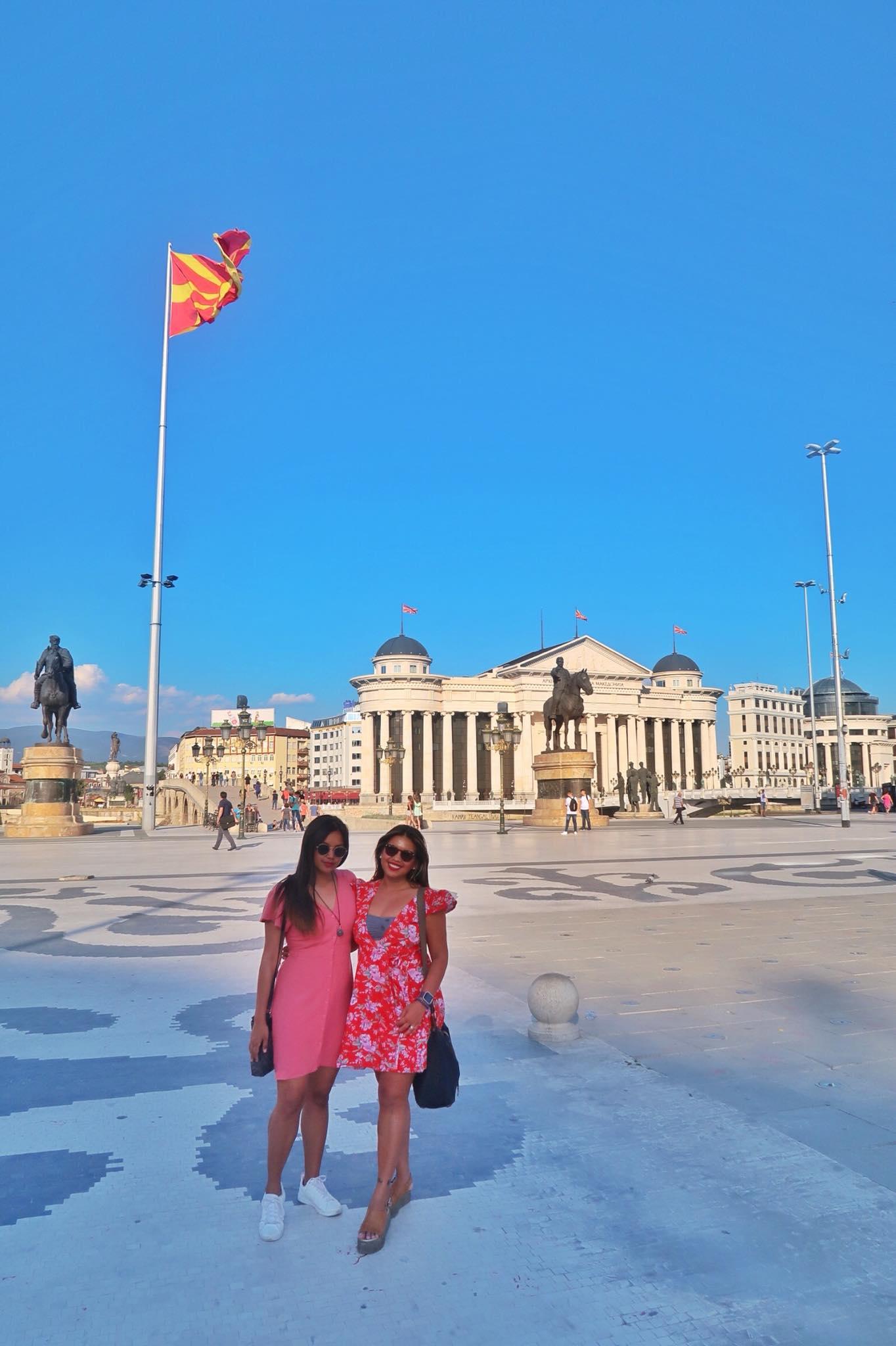 Kach Solo Travels Day 26: Walking Around the Beautiful City Centre of Skopje, Macedonia