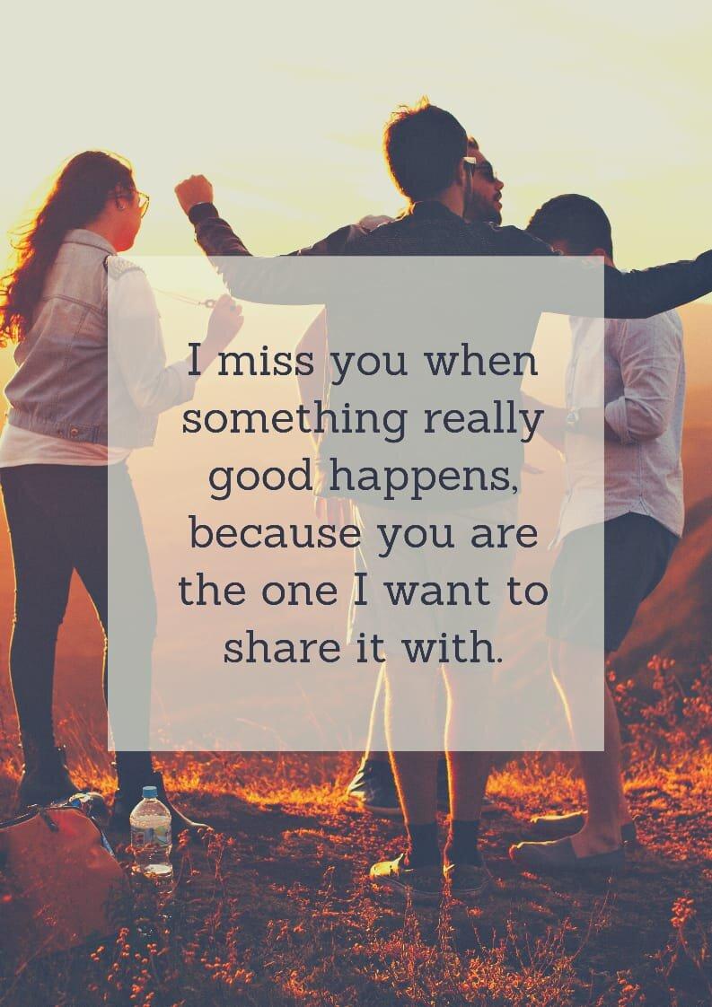 A friend missing true 37 True