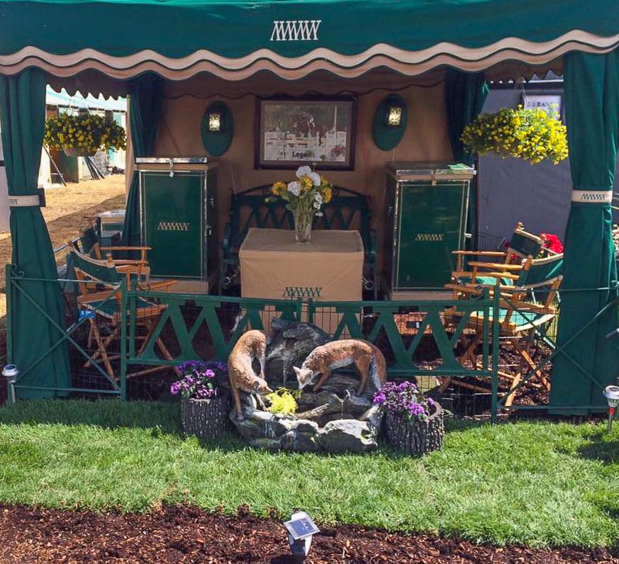 Maplewood's horse show set up
