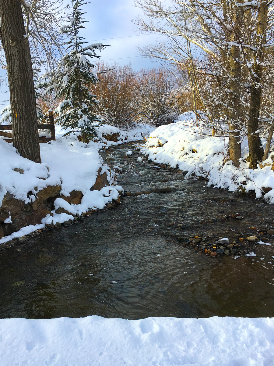 More than a foot of new snow helps to hide the flood damage we're still working to repair at Maplewood.