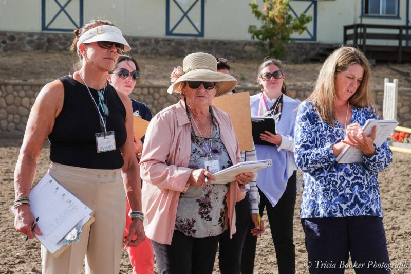 Fran Dotoli, center, teaches during the Reno Hunter/Equitation Judge's School