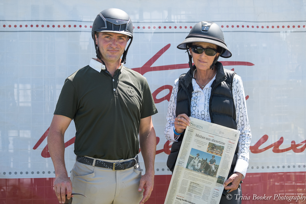 Kevin and Julie Winkel with their newspaper article.
