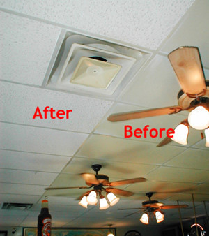 Coustic Glo Ceiling Cleaning