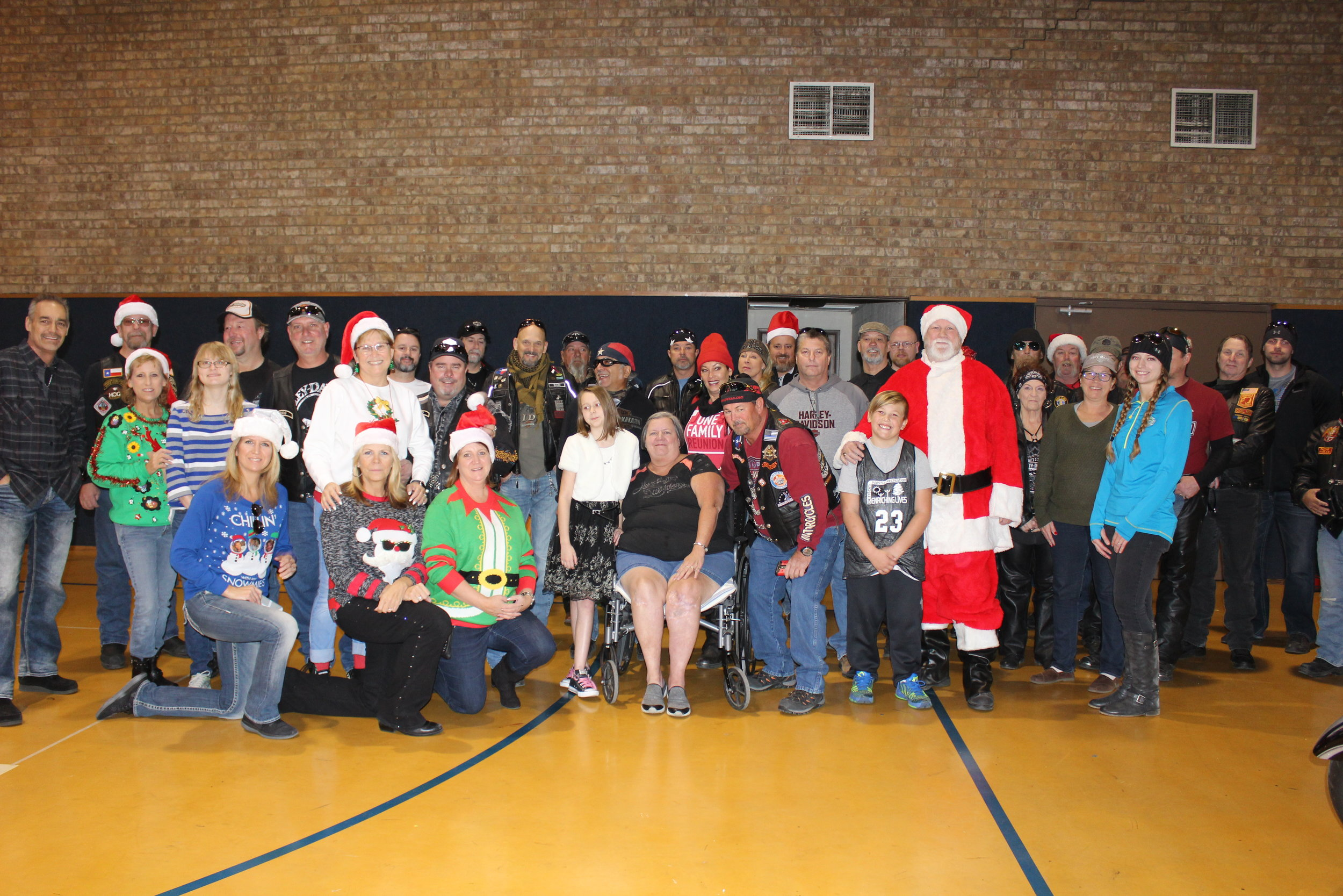 HarleyChristmas Party - December 2017 was an exciting time for the children's home. The American Eagle Harley group threw a wonderful annual Christmas party for our children & families complete with Santa, Harleys, presents, food and games. Thank you AE Hogs! What a fun time to brighten our kids lives.