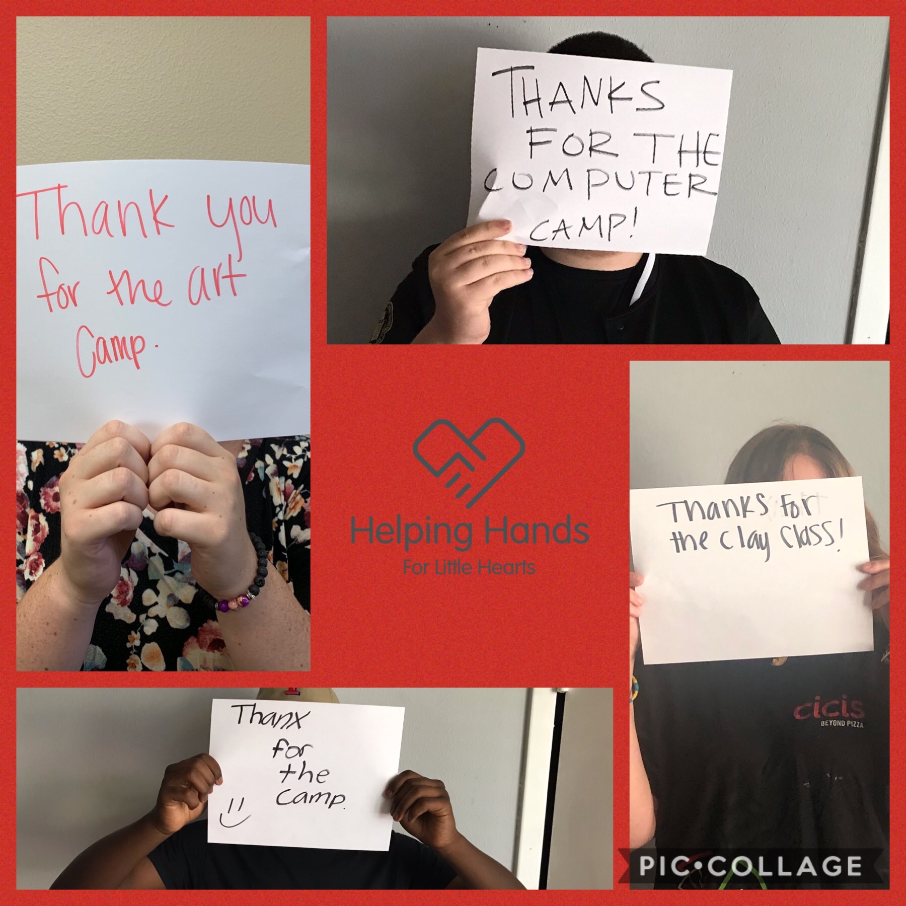 Summer Camp!! - We are so thankful for Helping Hands for Little Hearts for sending four of our residents to summer camps of their choice! Our community goes above and beyond to help provide normalcy for our residents and we are so grateful!
