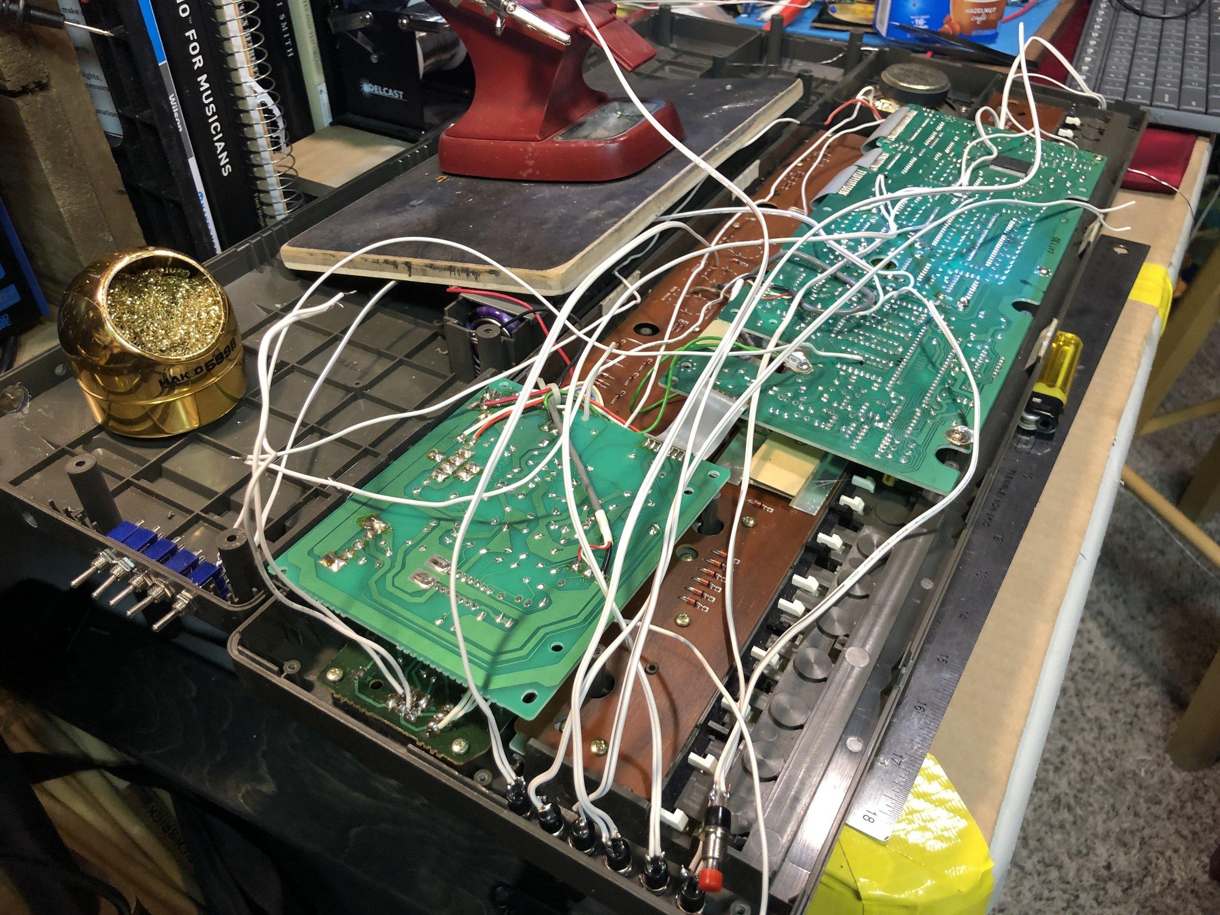 Circuit bend Casio MT-68