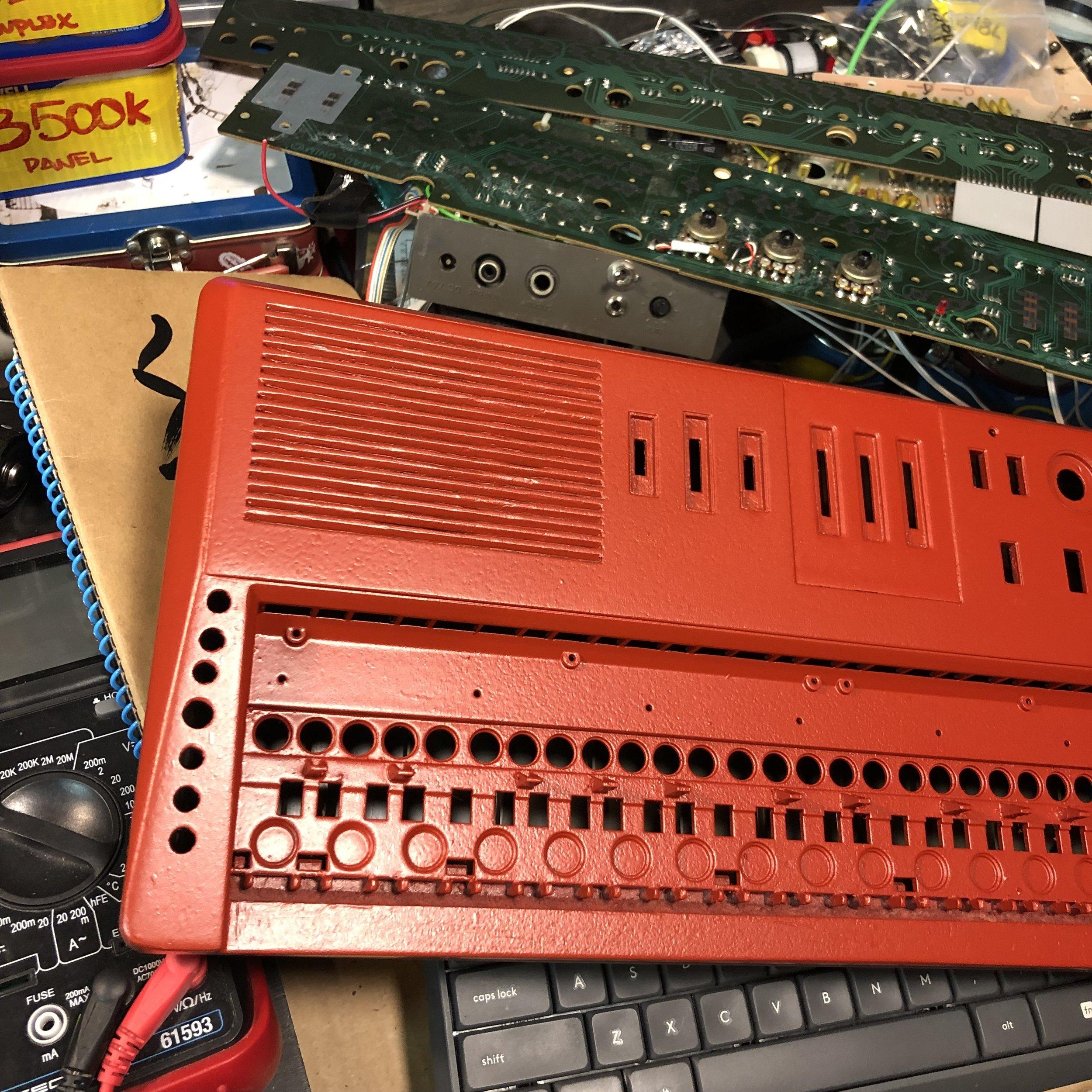 Red Casio MT-68 custom paint job
