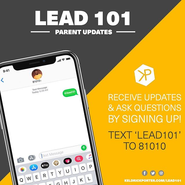 Wasup Folks! I can't wait to hang w/ my ppl tomorrow evening! Haven't registered? What are our waiting for? Parents(or if you know of someone) of Teen Males 12yo-16yo!!⁣ |SWIPE LEFT|  #LEAD101 parents, please join our text alerts. ⁣ Through 𝐋𝐄𝐀𝐃 𝟏𝟎𝟏, 𝐲𝐨𝐮𝐧𝐠 𝐦𝐚𝐥𝐞𝐬 (𝟏𝟐𝐲𝐨-𝟏𝟔𝐲𝐨) 𝐰𝐢𝐥𝐥 𝐛𝐞 𝐞𝐧𝐜𝐨𝐮𝐫𝐚𝐠𝐞𝐝 𝐭𝐨 𝐫𝐞𝐦𝐚𝐢𝐧 𝐨𝐩𝐞𝐧 𝐭𝐨 𝐋𝐄𝐀𝐑𝐍, 𝐭𝐨 𝐫𝐞𝐦𝐚𝐢𝐧 𝐄𝐍𝐆𝐀𝐆𝐄𝐝, 𝐭𝐨 𝐧𝐞𝐯𝐞𝐫 𝐛𝐞 𝐚𝐟𝐫𝐚𝐢𝐝 𝐭𝐨 𝐭𝐚𝐤𝐞 𝐀𝐂𝐓𝐈𝐎𝐍 𝐚𝐧𝐝 𝐭𝐨 𝐫𝐞𝐦𝐚𝐢𝐧 𝐃𝐄𝐓𝐄𝐑𝐌𝐈𝐍𝐄𝐃 no matter past situations or current situations. I look forward to pouring into the lives of our young people.⁣ ⁣ 𝐑𝐞𝐠𝐢𝐬𝐭𝐞𝐫 𝐲𝐨𝐮𝐫 𝐭𝐞𝐞𝐧 𝐟𝐨𝐫 𝐋𝐄𝐀𝐃 𝟏𝟎𝟏! 𝐂𝐋𝐈𝐂𝐊 𝐓𝐇𝐀𝐓 𝐋𝐈𝐍𝐊 𝐚𝐧𝐝 𝐬𝐡𝐚𝐫𝐞 𝐚𝐧𝐝 𝐭𝐚𝐠! 𝐡𝐭𝐭𝐩://𝐰𝐰𝐰.𝐤𝐞𝐥𝐝𝐫𝐢𝐜𝐤𝐩𝐨𝐫𝐭𝐞𝐫.𝐜𝐨𝐦/𝐥𝐞𝐚𝐝𝟏𝟎𝟏 ⁣ | #2019 #vibes #MSIU #mystoryisunique @thektable #thekitchentableblog @keldrickporter #blog #lifestyle #family #story #grateful  #marketing #networking #entrepreneurship #leadership |