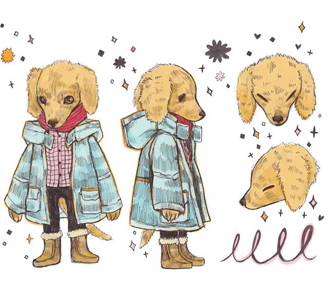 A dog with a dream 🐕♥️ #art #dog #illustration #sketch #pup