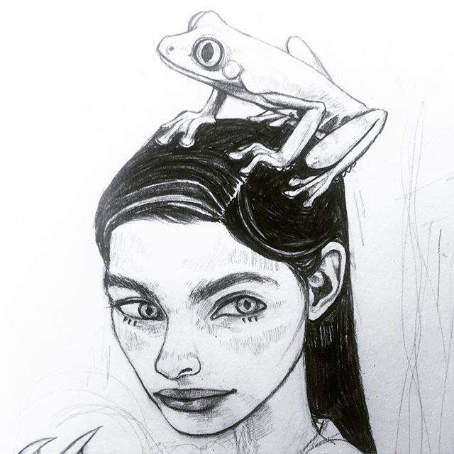 under construction 💧 #art #illustration #kelpie #sketchbook
