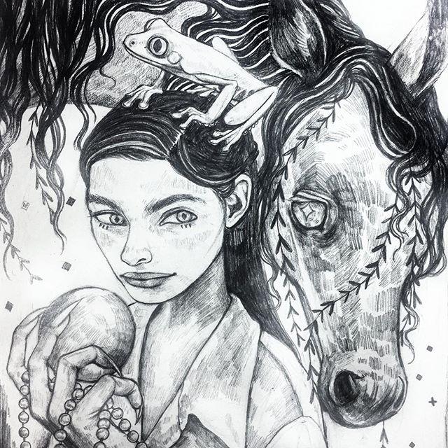 scottish water horse #kelpie #illustration #art #sketchbook