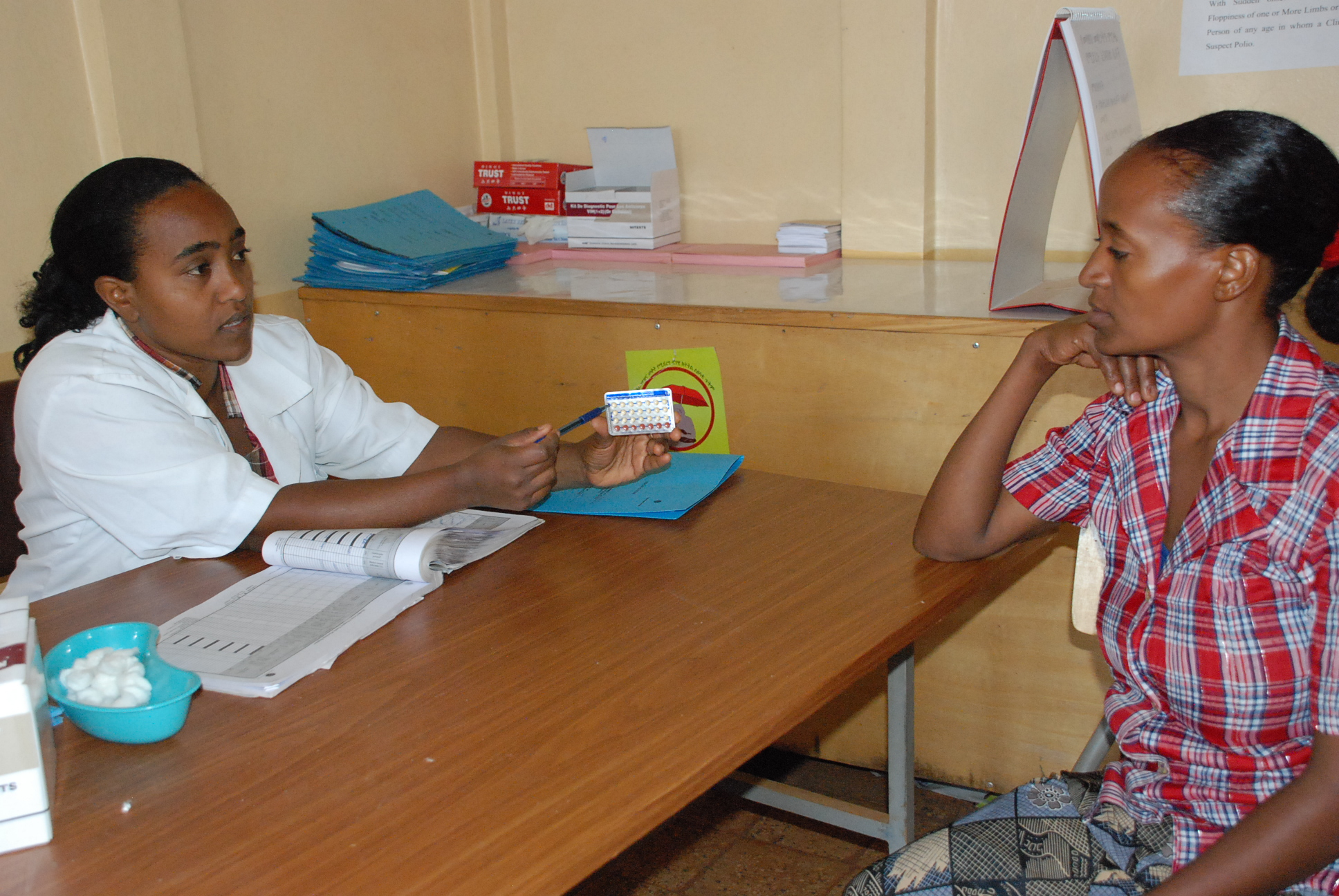Exhibit 2. HEW counseling mother on family planning, Amhara region, Ethiopia.