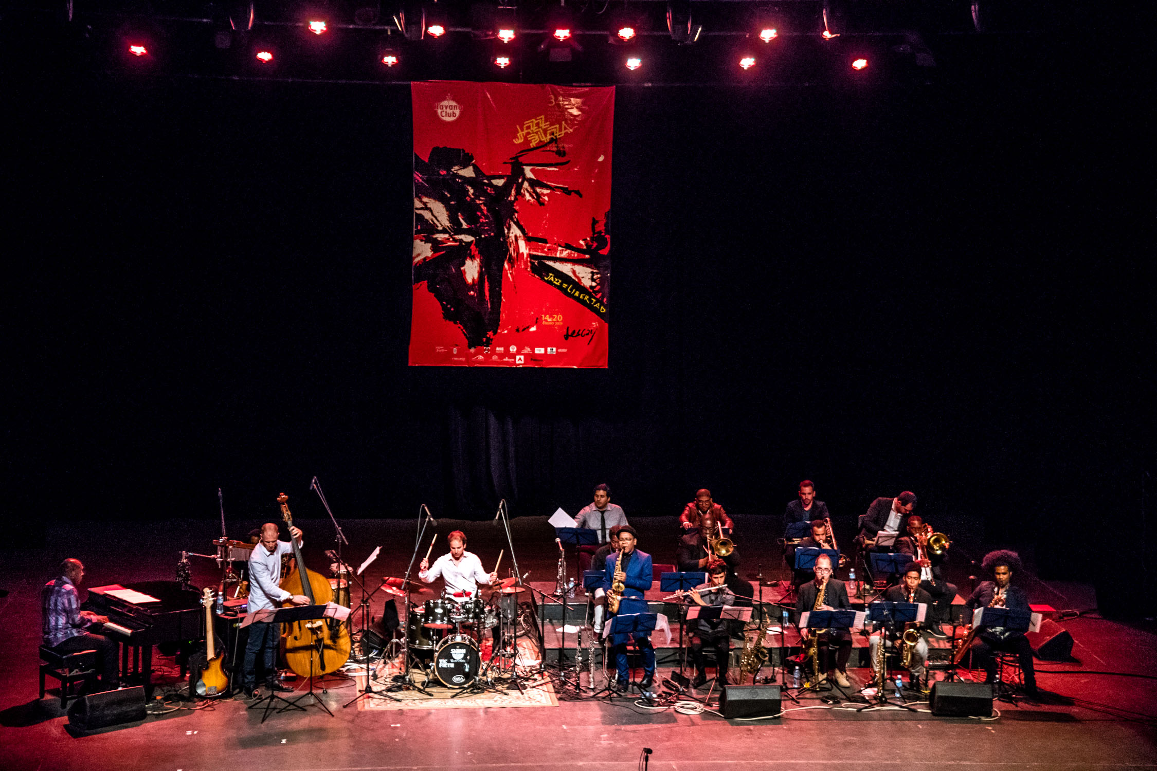 Dafnis Prieto Big Band at Teatro Mella, Havana, Cuba, January 2019 (Photo by David Garten)