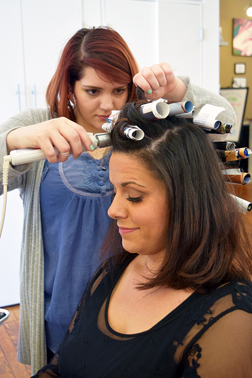 Ashley Shick creates awesome curly hair at Alter EGO Hair Salon and Blow Dry Bar.