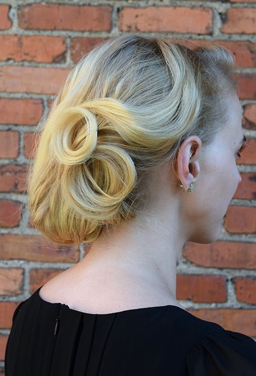 Throwback pin curls at Alter EGO Blow Dry Bar.