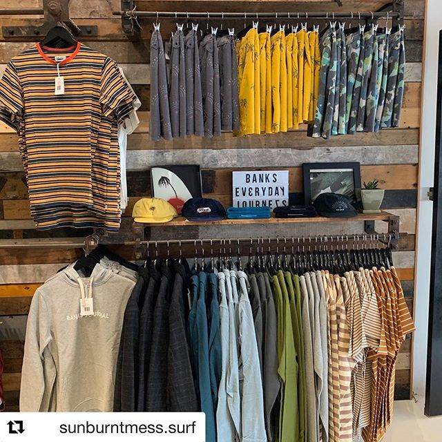 #Repost @sunburntmess.surf ・・・ @banksjournal have just taken over our clothing space with some fine looking pieces from their spring collection. Get in and check it out in between today's rain squalls ☔️ you won't be disappointed. #sunburntmess #banksjournal #bankseverydayjourneys #apparel #bondibeach @nevadaprojects