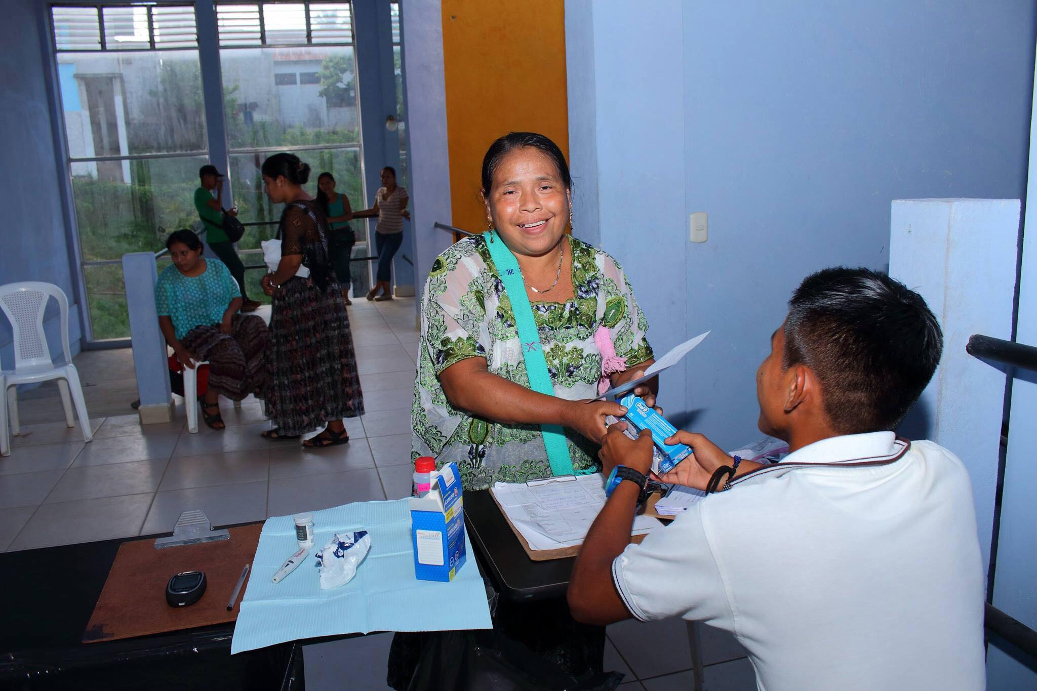 all treated patients were given toothpaste, toothbrushes, dental floss and shampoo.