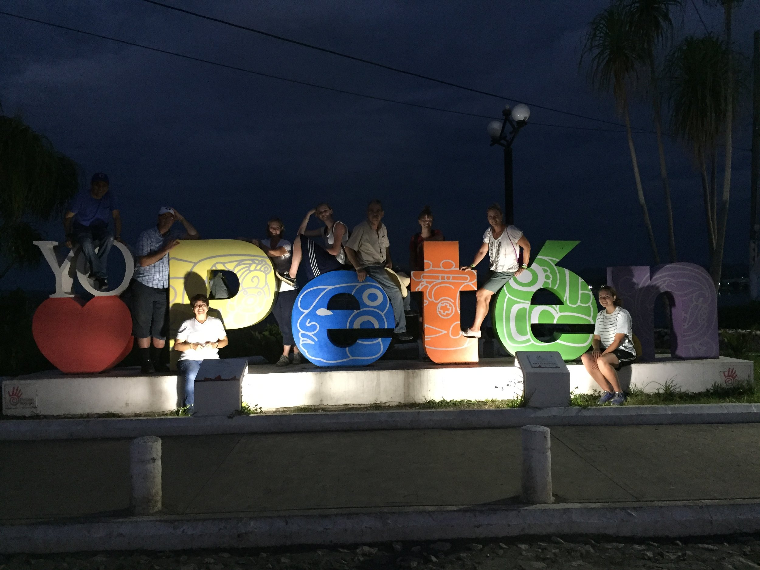 Visiting Peten after the service project with our volunteers from USA.