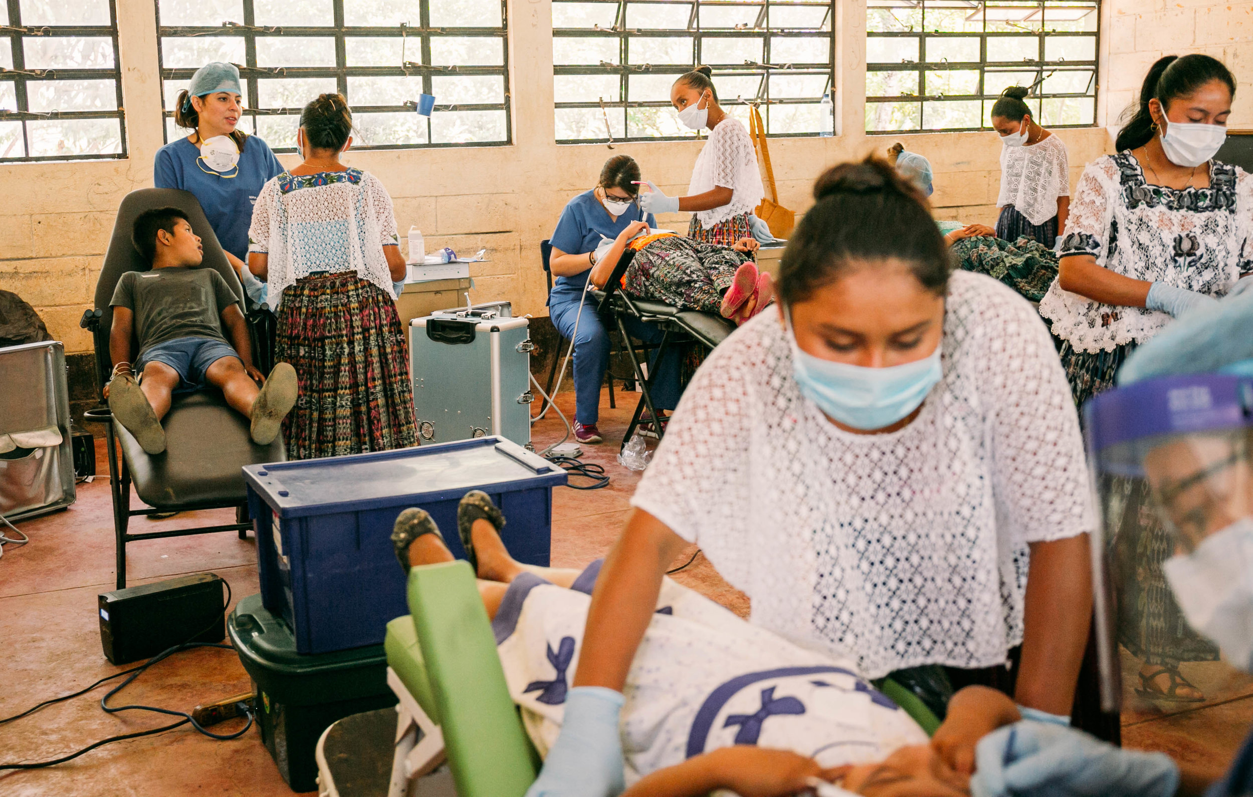 our dental clinic where 12 dentists did extractions and fillings