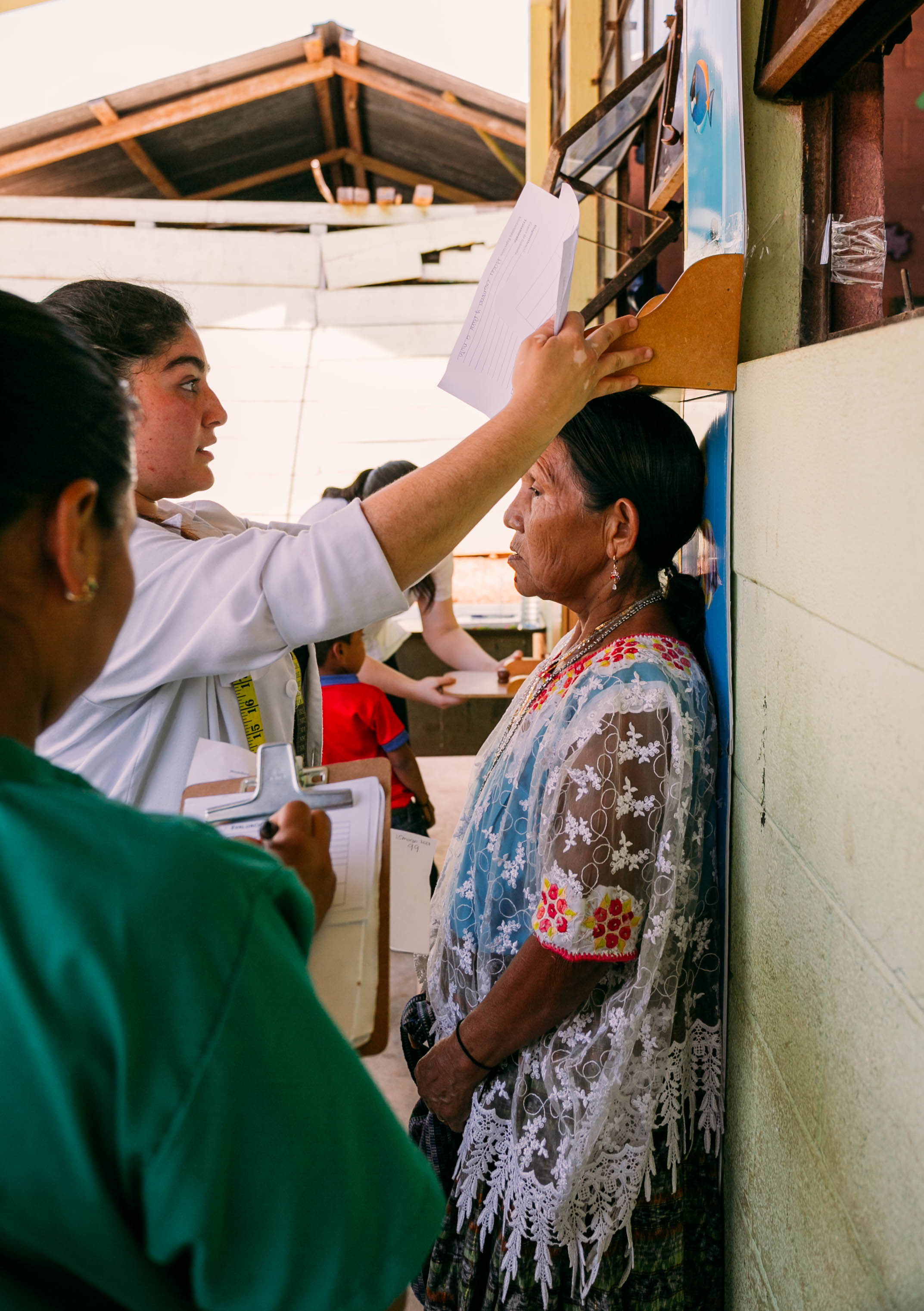 patients were weighed and measured and given nutritional advice as to their daily habits and food intake.
