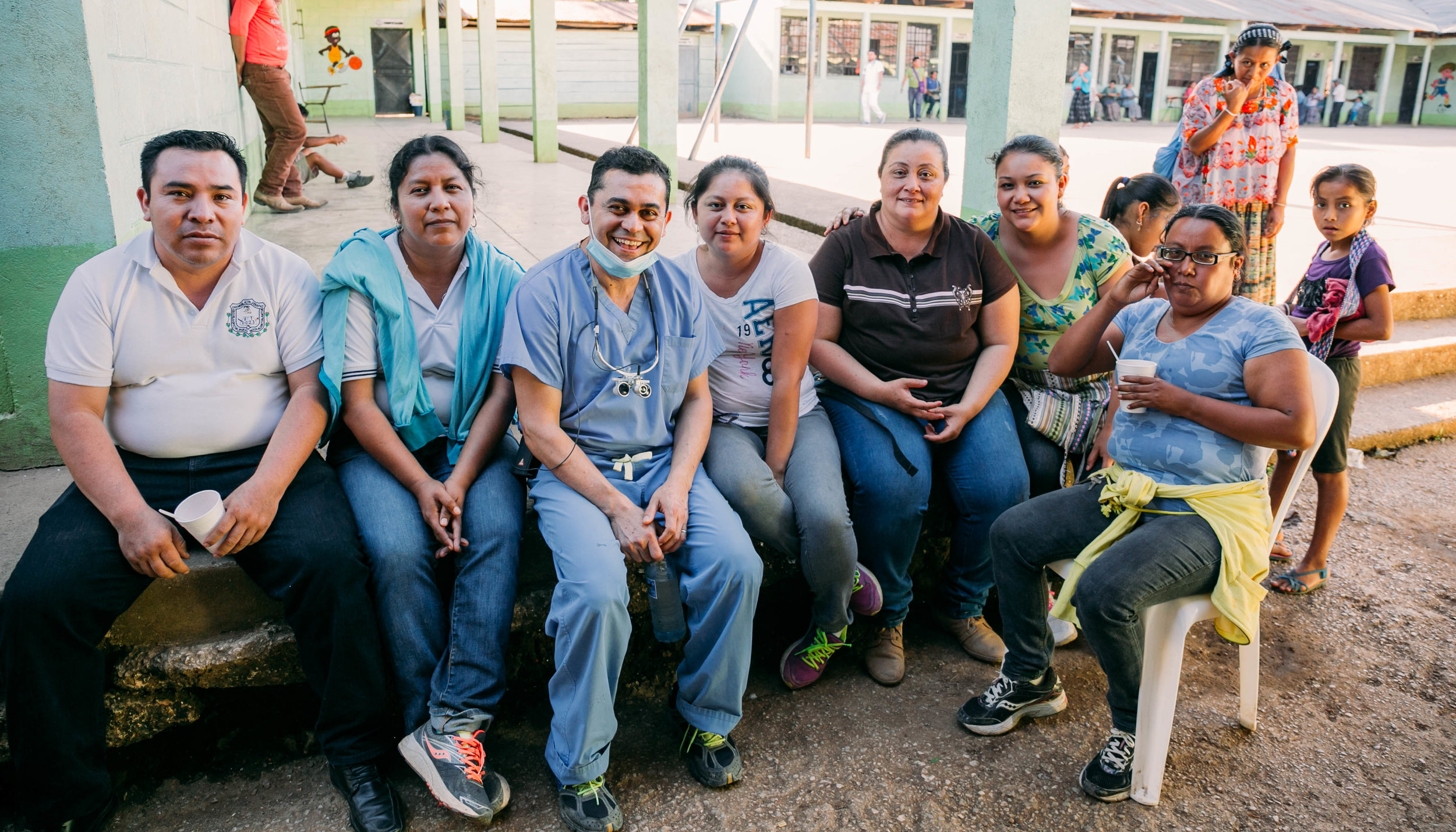 some of the students' parents who helped organize the patients
