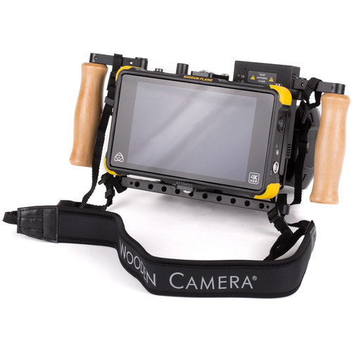 Wooden Camera Director's Monitor Cage v2 with Wooden Grips