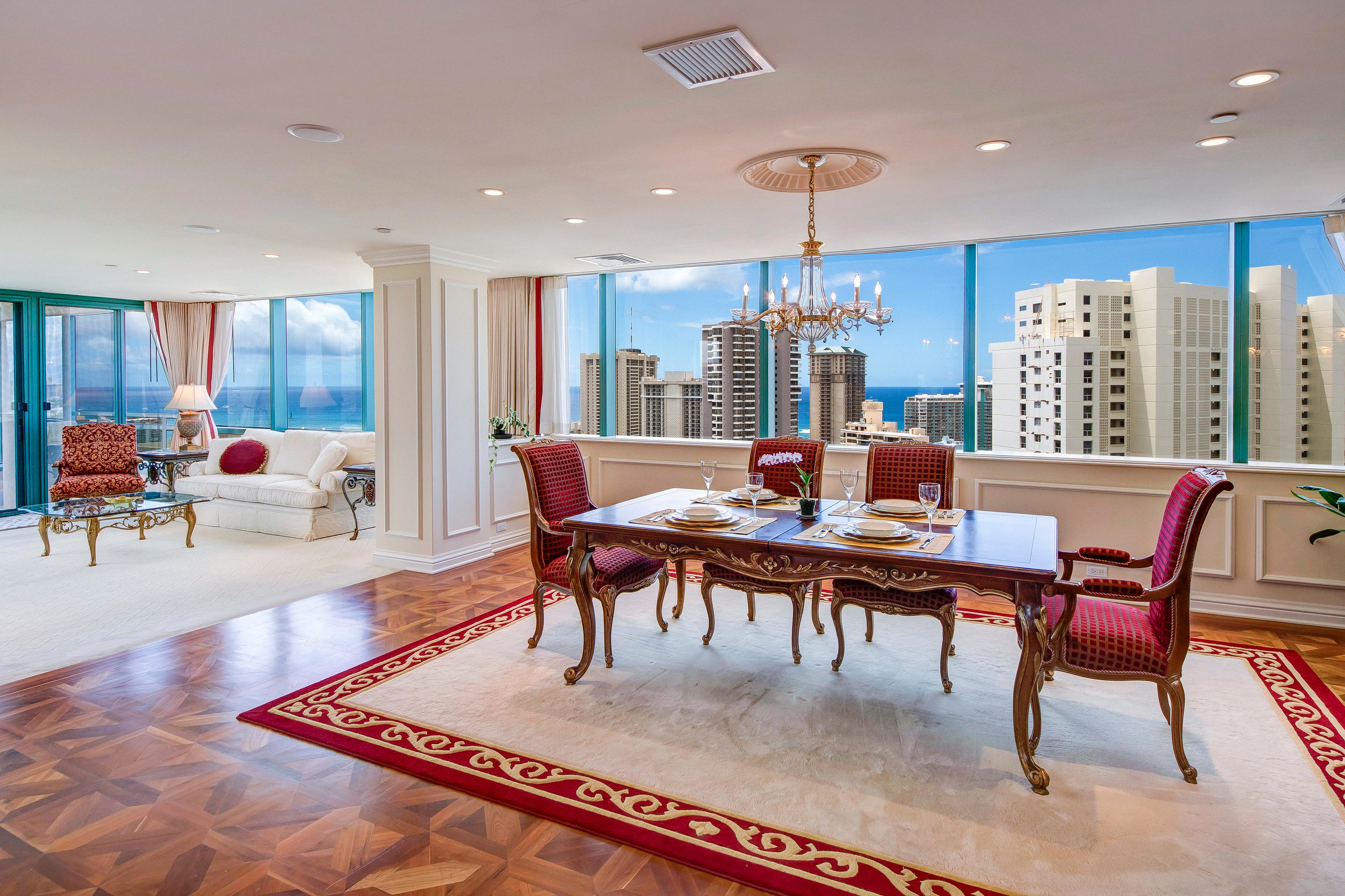 3 BDS OCEAN LUXURY PENTHOUSE   $18,000 / monthly - Contact us for special rates  FURNISHED  3 BEDROOMS  3 FULL BATHS  3,294 sq. ft.  Hawaii State License #: GE-080-506-4704-01, TA-080-506-4704-01