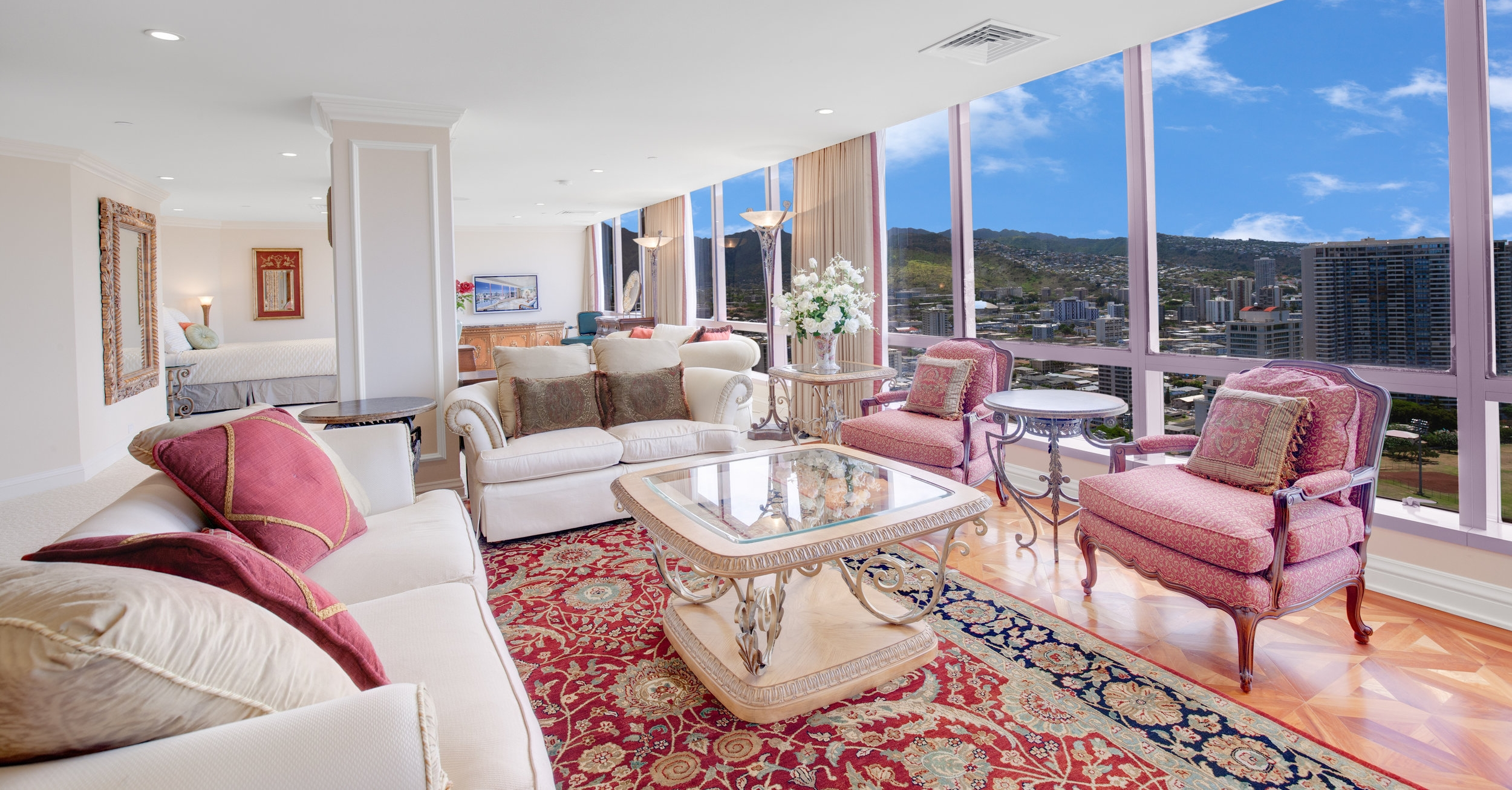 1 BDS LUXURY plus Den PENTHOUSE   $13,500 / monthly - Contact us for special rates  FURNISHED  1 BEDROOM  1.5 BATHROOM  2,134 sq. ft.  Hawaii State License #: GE-080-506-4704-01, TA-080-506-4704-01