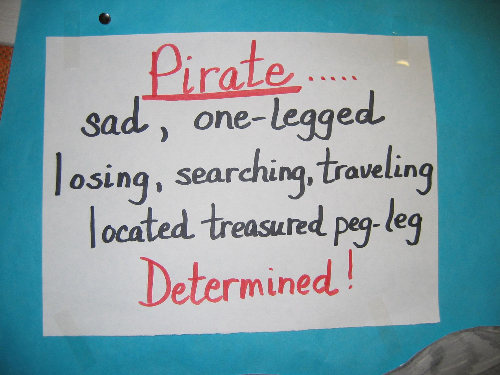 Pirate Cinquain