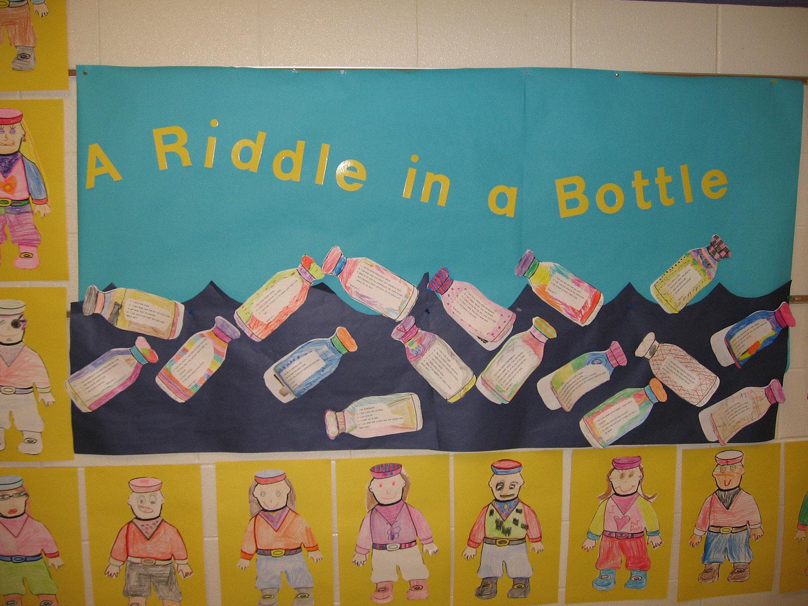 Riddles in Bottles Bulletin Board