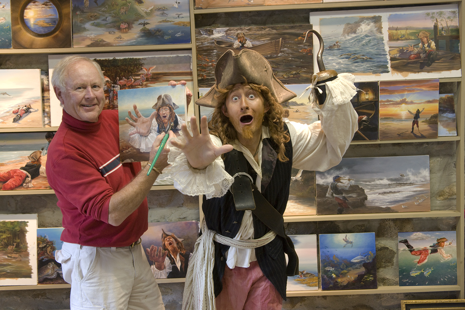 Heiner Hertling and Robert Sams as a Pirate
