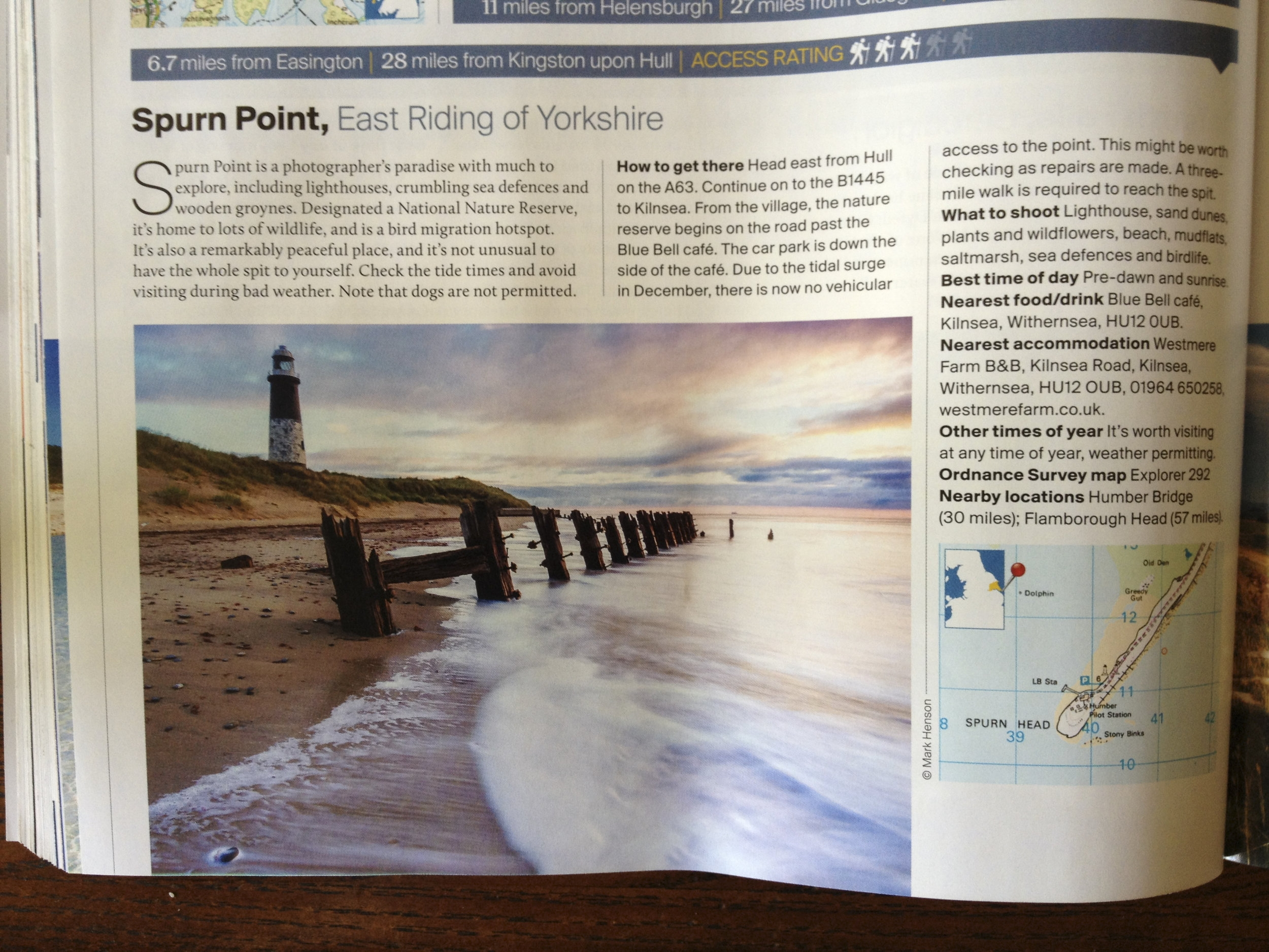 Spurn Point featured in Outdoor Photography Magazine -