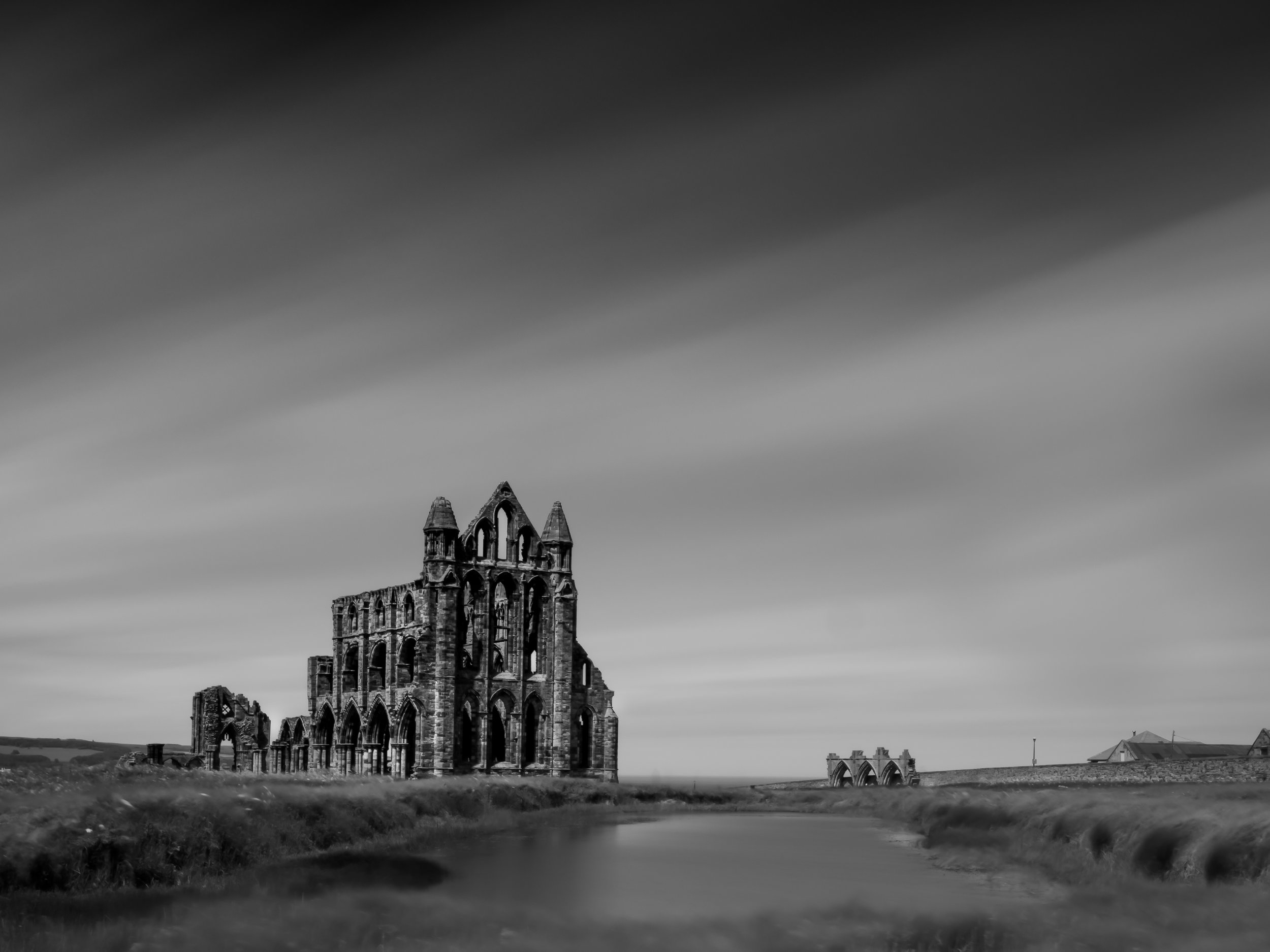 Whitby Abbey.... achieved with Olympus OMD em5 mk2 9-18mm lens, Kase 10 stop filter, 5 min 22 second exposure at f11 with The Alta pro 2 + 263Ap tripod and an umbrella!