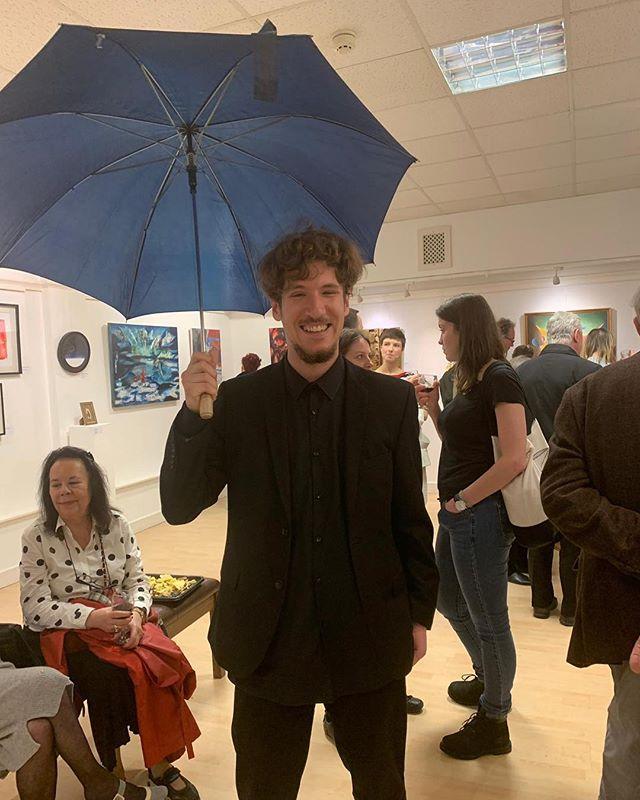 Last night at @poskgallery during APA's spring exhibition.  #polishart #polishartist #exhibition #galleryart #gallery #polishartists #londonart #londonartists #artshow #polskiartysta #polskasztuka #surrealism #funnyphotos #londonexhibition