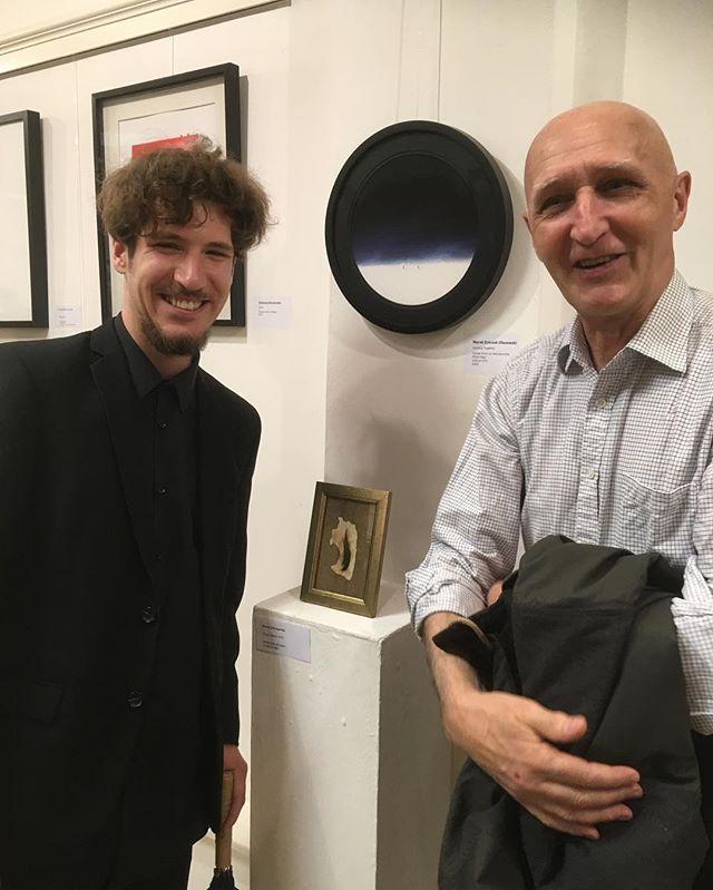 With @henrykterpart at @poskgallery during APA's spring exhibition.  #polishart #polishartist #exhibition #galleryart #gallery #polishartists #londonart #londonartists #artshow #polskiartysta #polskasztuka