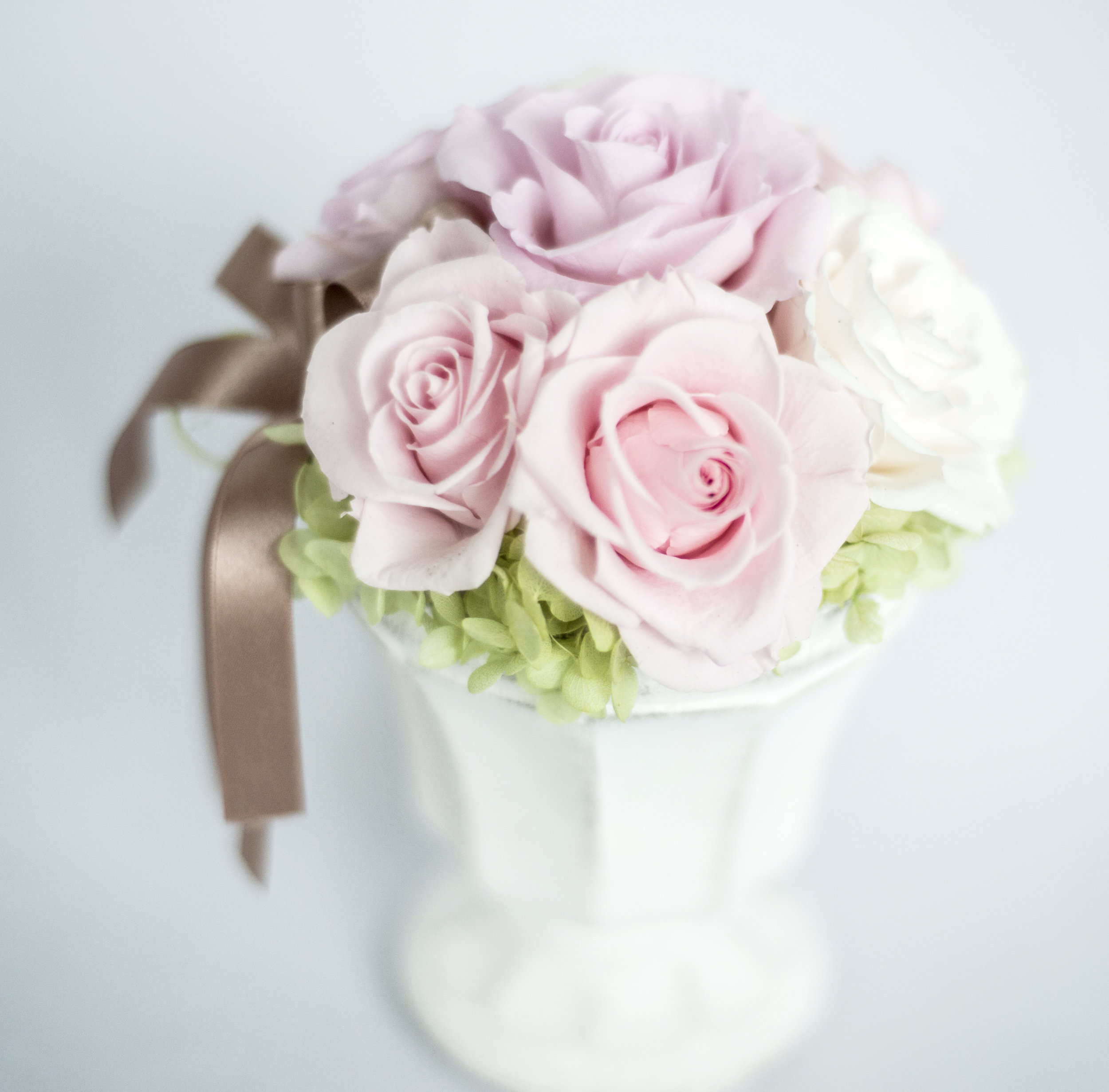 Pink preserved flower gift