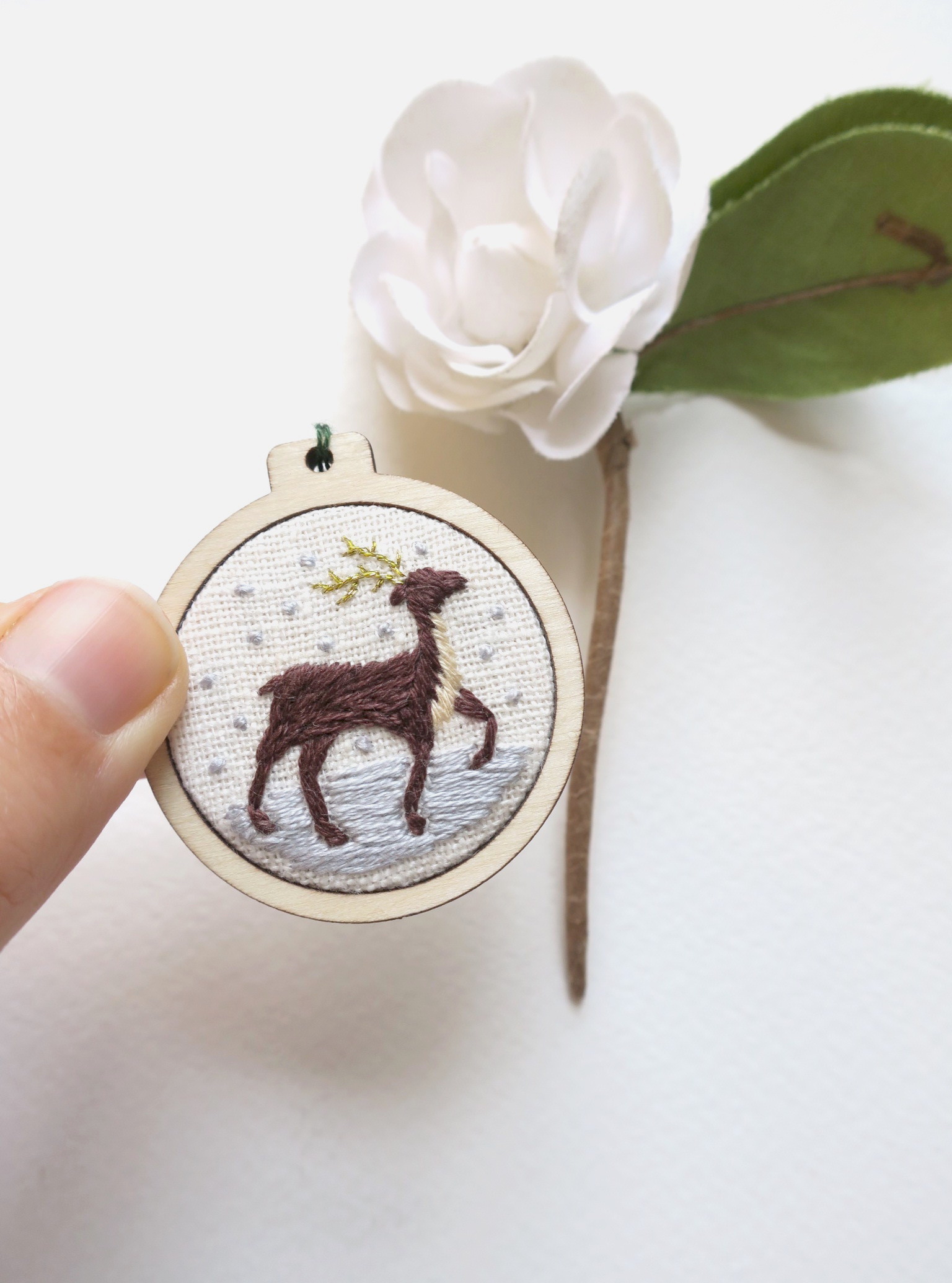 Cathy Eliot Reindeer Mini Hoop.jpg