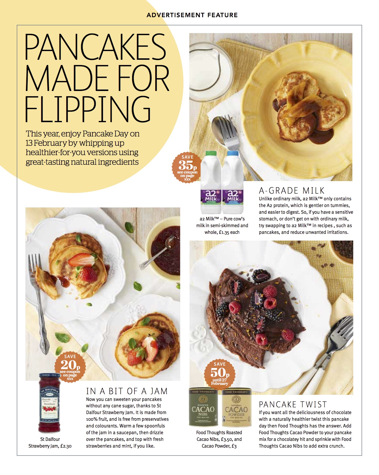 Publication: Sainsbury's magazine, Feb 2018  Photographer: Mike Hart  Art Direction and props styling: Sainsbury's advertorial/commercial team