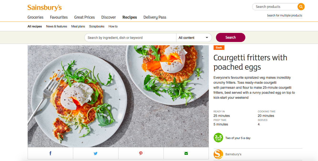 Publication: Sainsbury's online  Photographer: Stuart Ovenden  Food Stylist: Emily Jonzen  Prop Stylist: Sarah Birks  Recipe:  HERE