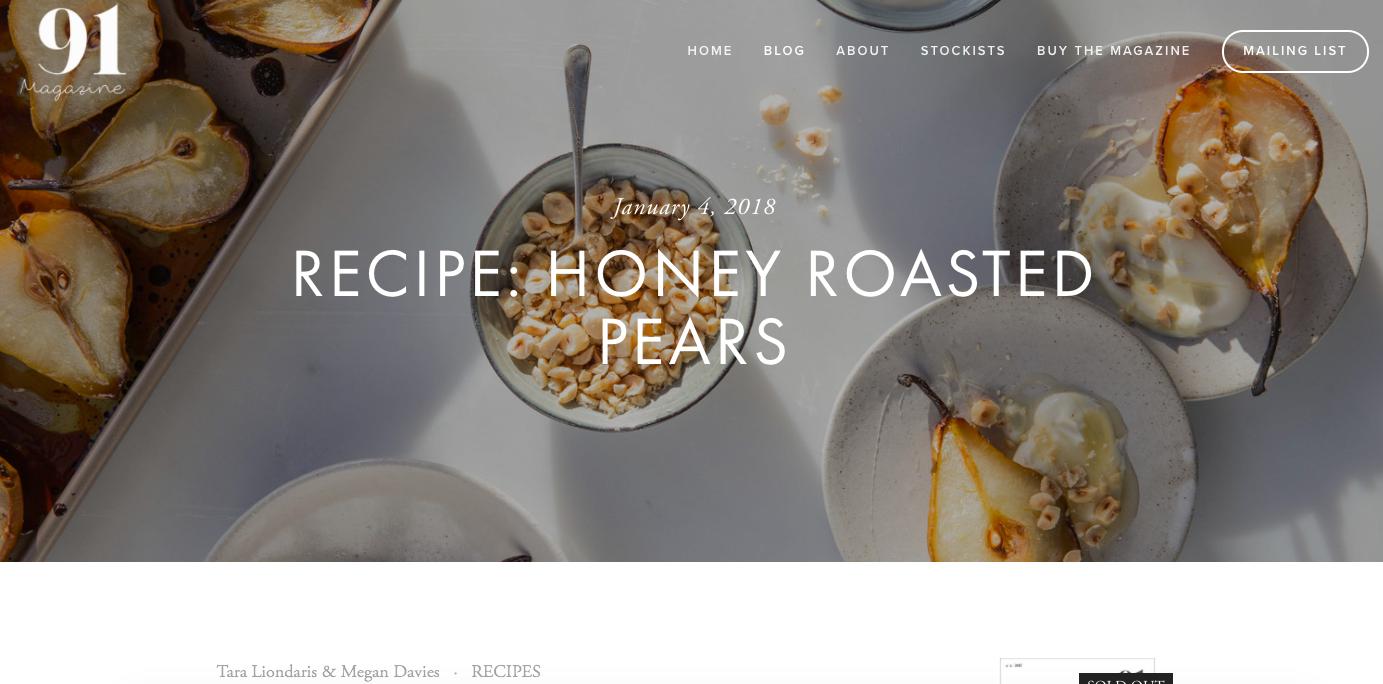 Publication: 91 magazine  Photographer: Tara Liondaris  Food stylist: Megan Davies  Recipe:  HERE