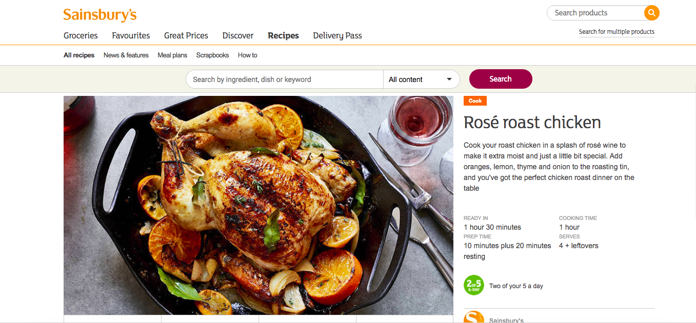 Publication: Sainsbury's online  Photographer: Ria Osborne  Food Stylist: Catherine Hill  Prop Stylist: Sarah Birks  Recipe:  HERE