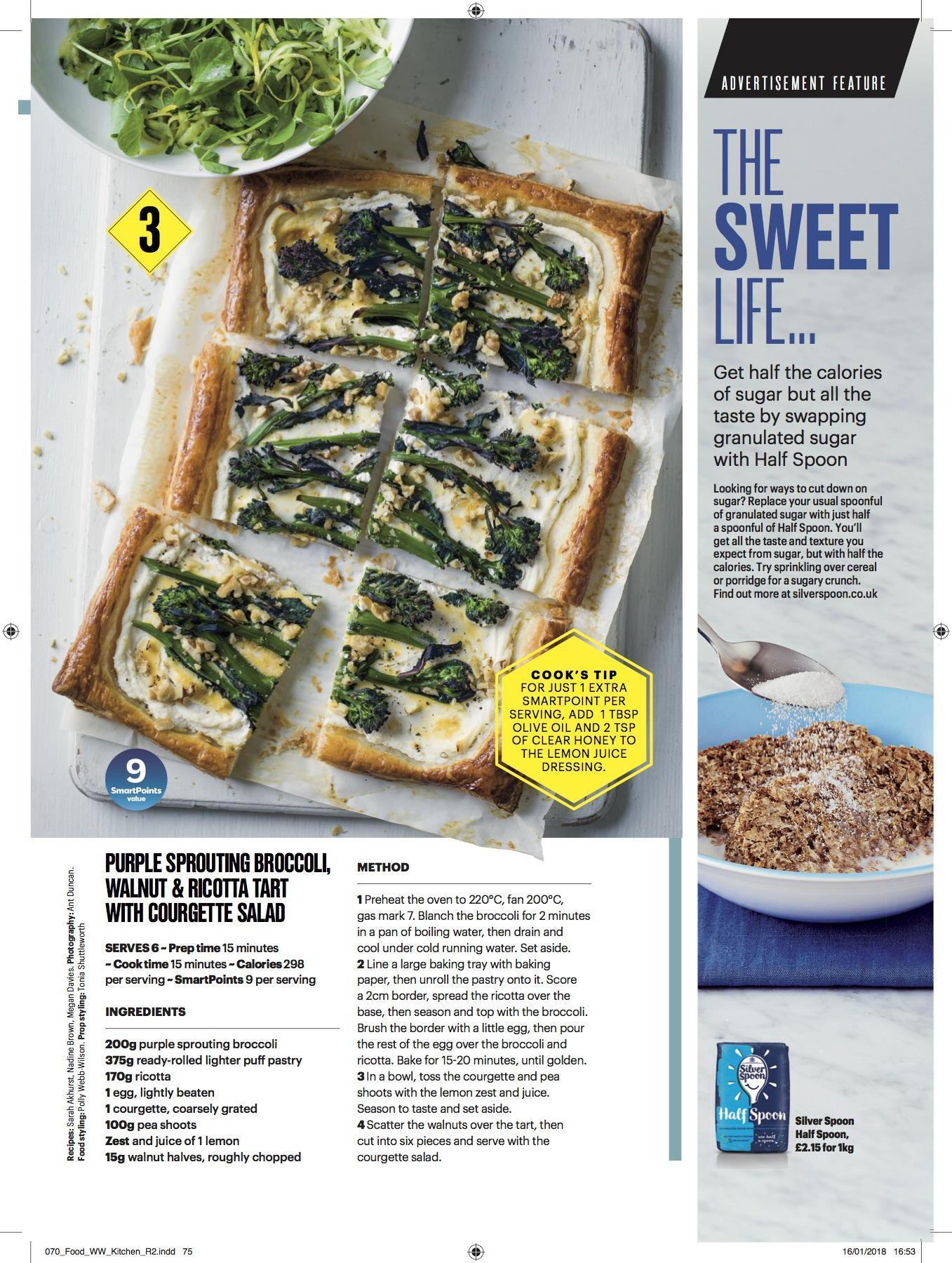 Publication: Weight Watchers magazine March 2018  Photographer: Ant Duncan  Food stylist: Polly Webb-Wilson  Prop stylist: Tonia Shuttleworth