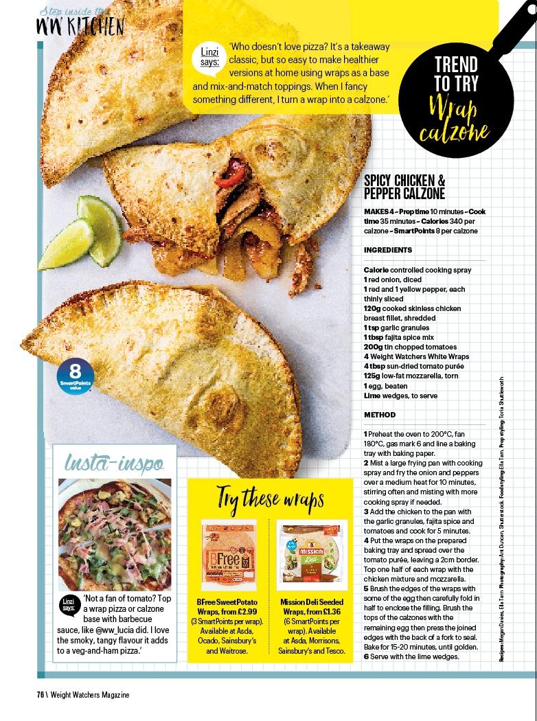 Publication: Weight Watchers magazine May 2018  Photographer: Ant Duncan  Food stylist: Ella Tarn  Prop stylist: Tonia Shuttleworth