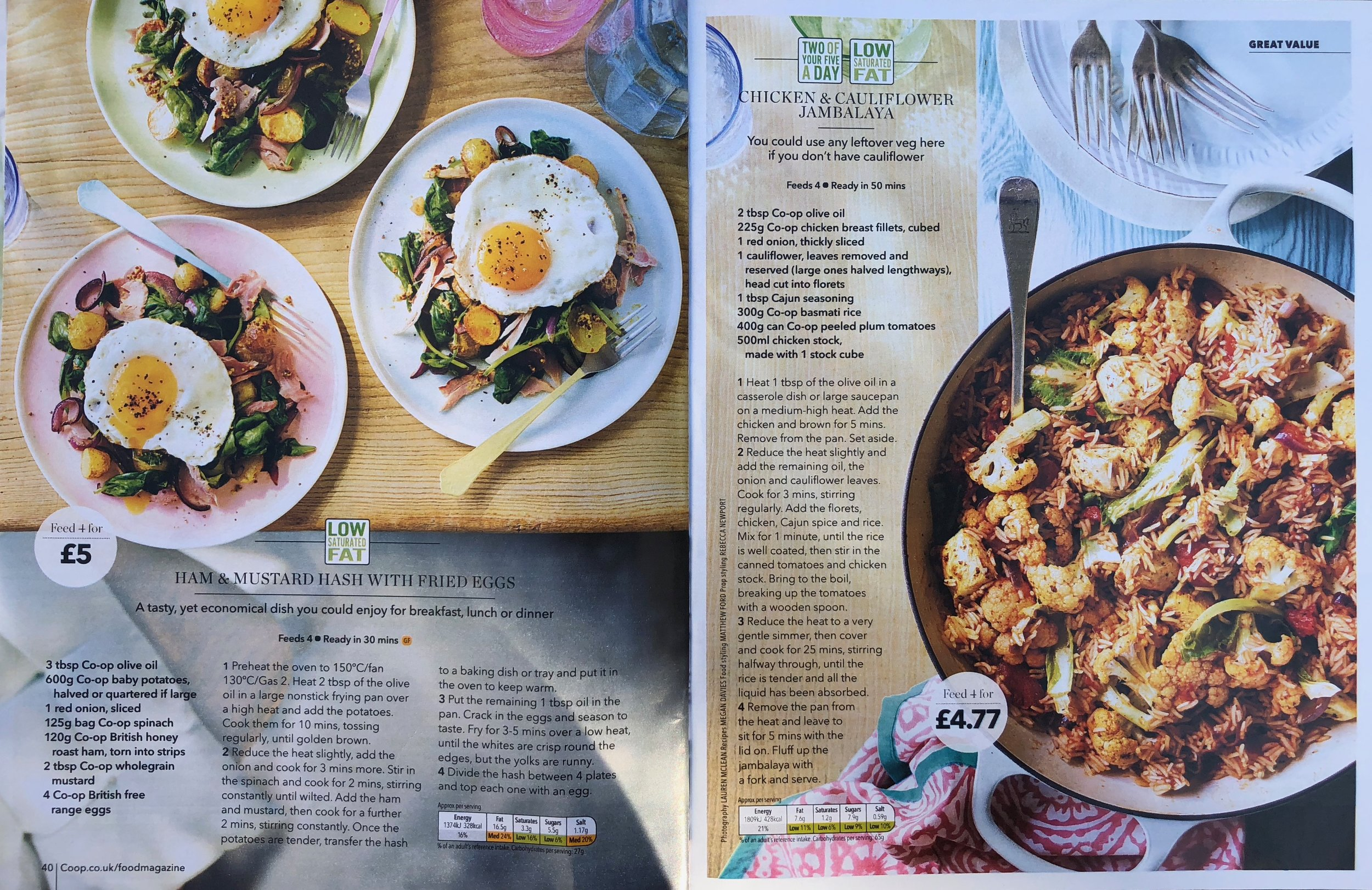 Publication: Coop Magazine, August issue 2018  Photographer: Lauren McClean  Food stylist: Matthew Ford  Props stylist: Rebecca Newport