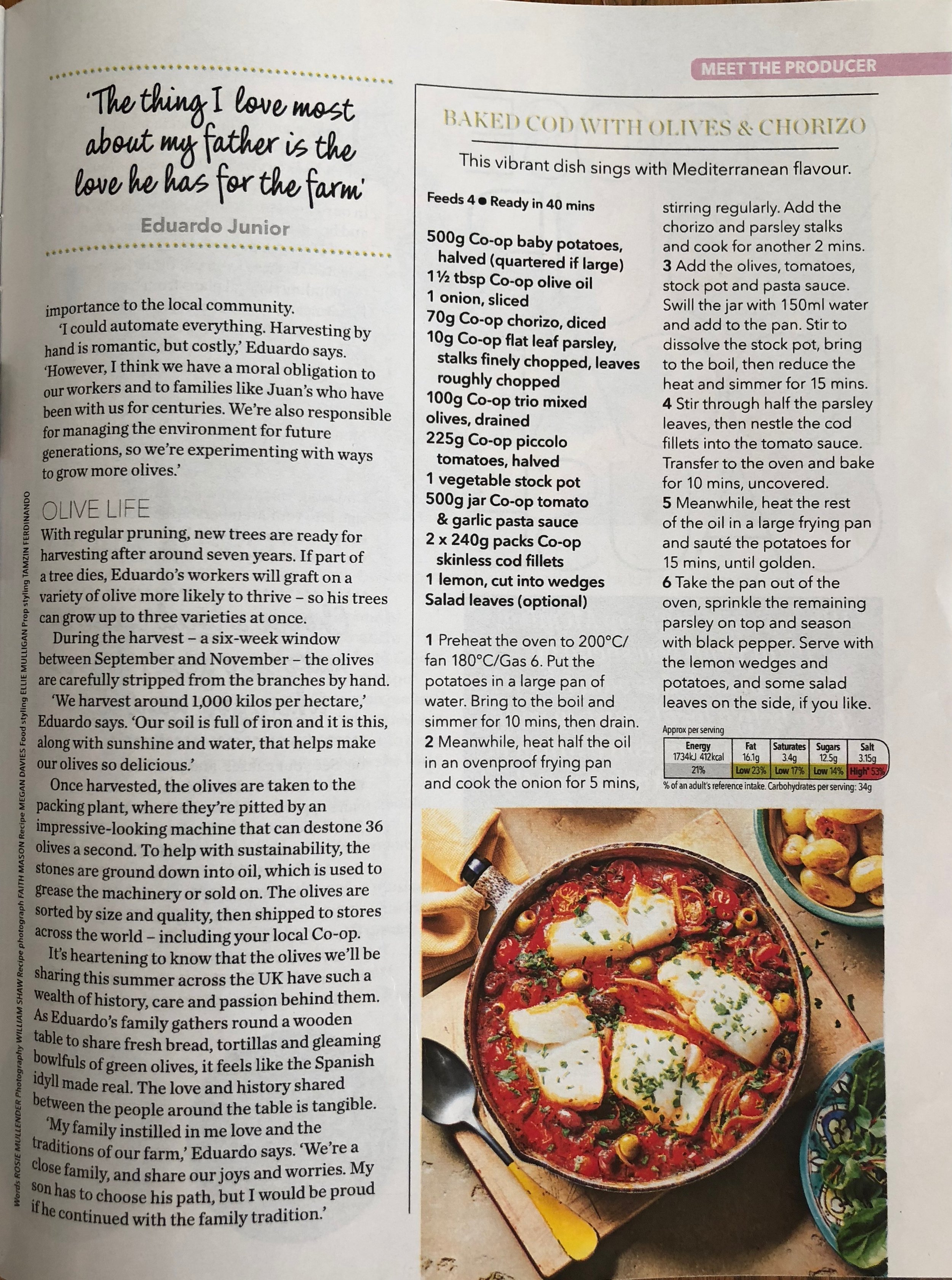Publication: Coop Magazine, June 2018  Photographer: Faith Mason  Food stylist: Ellie Mulligan  Prop styling: Tamzin Ferdinando
